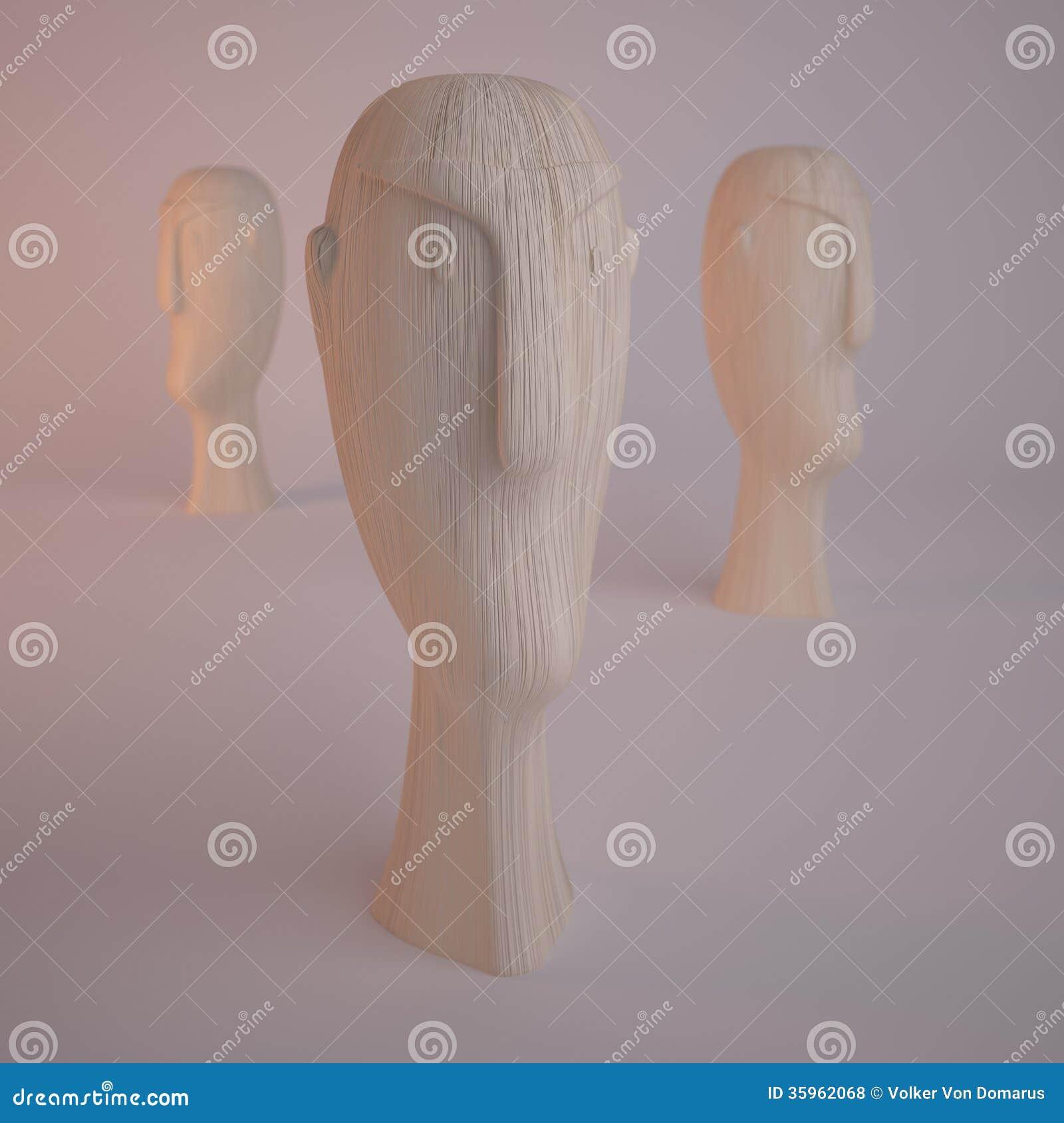 Estatura de madera