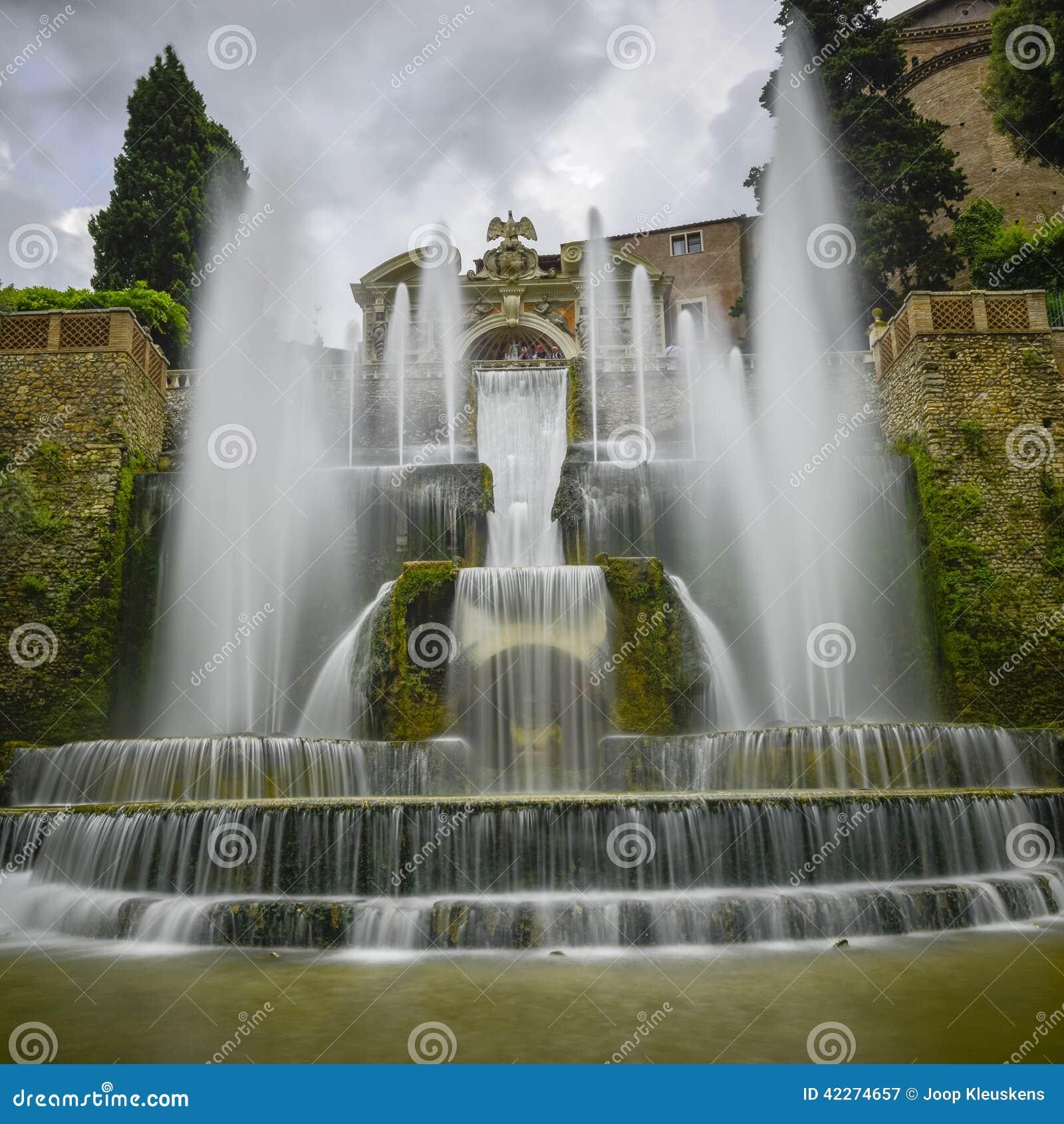 Este de la villa d dans le tivoli italie l 39 europe photo for Dans italien