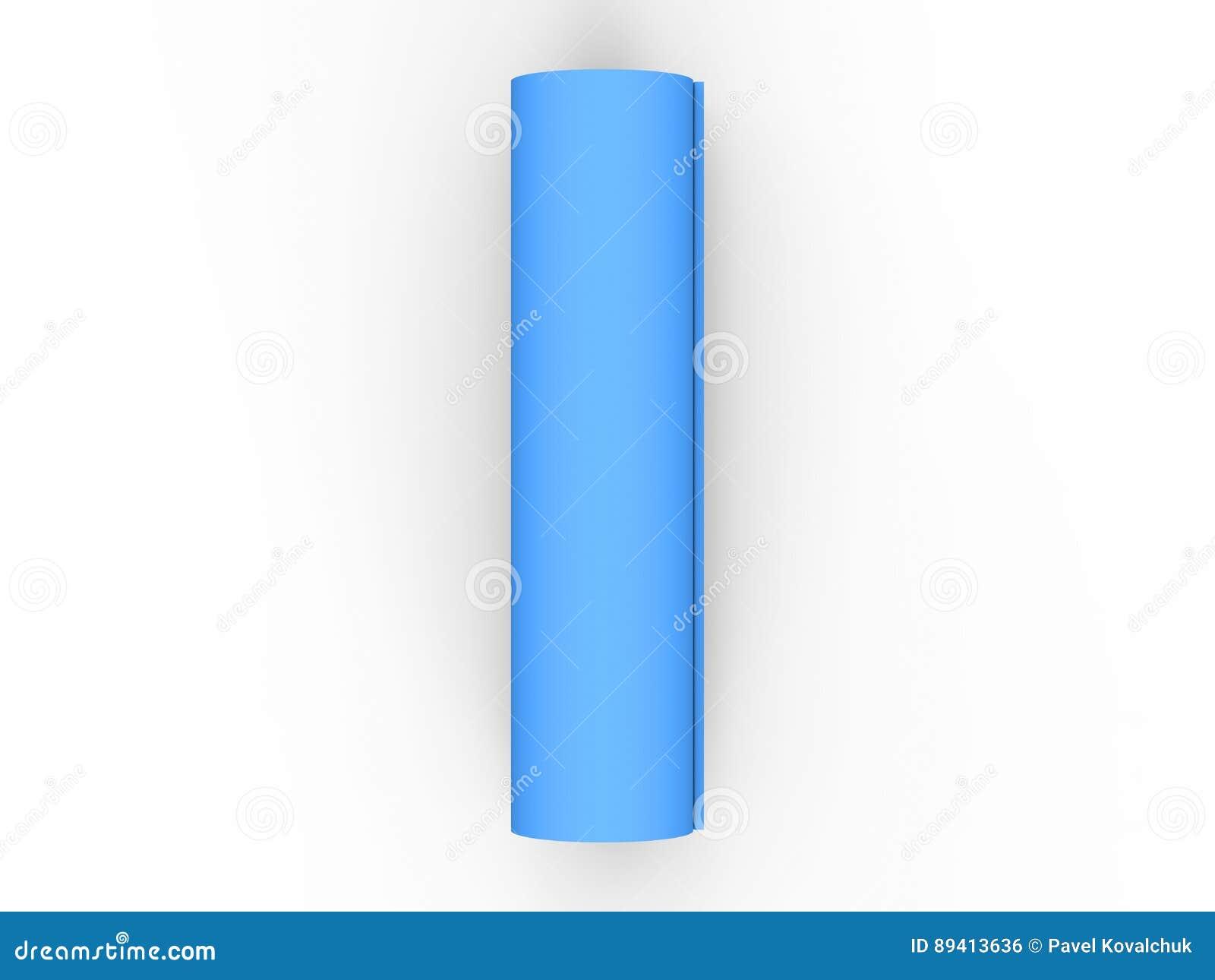 Esteira azul da ioga da ilustração 3D