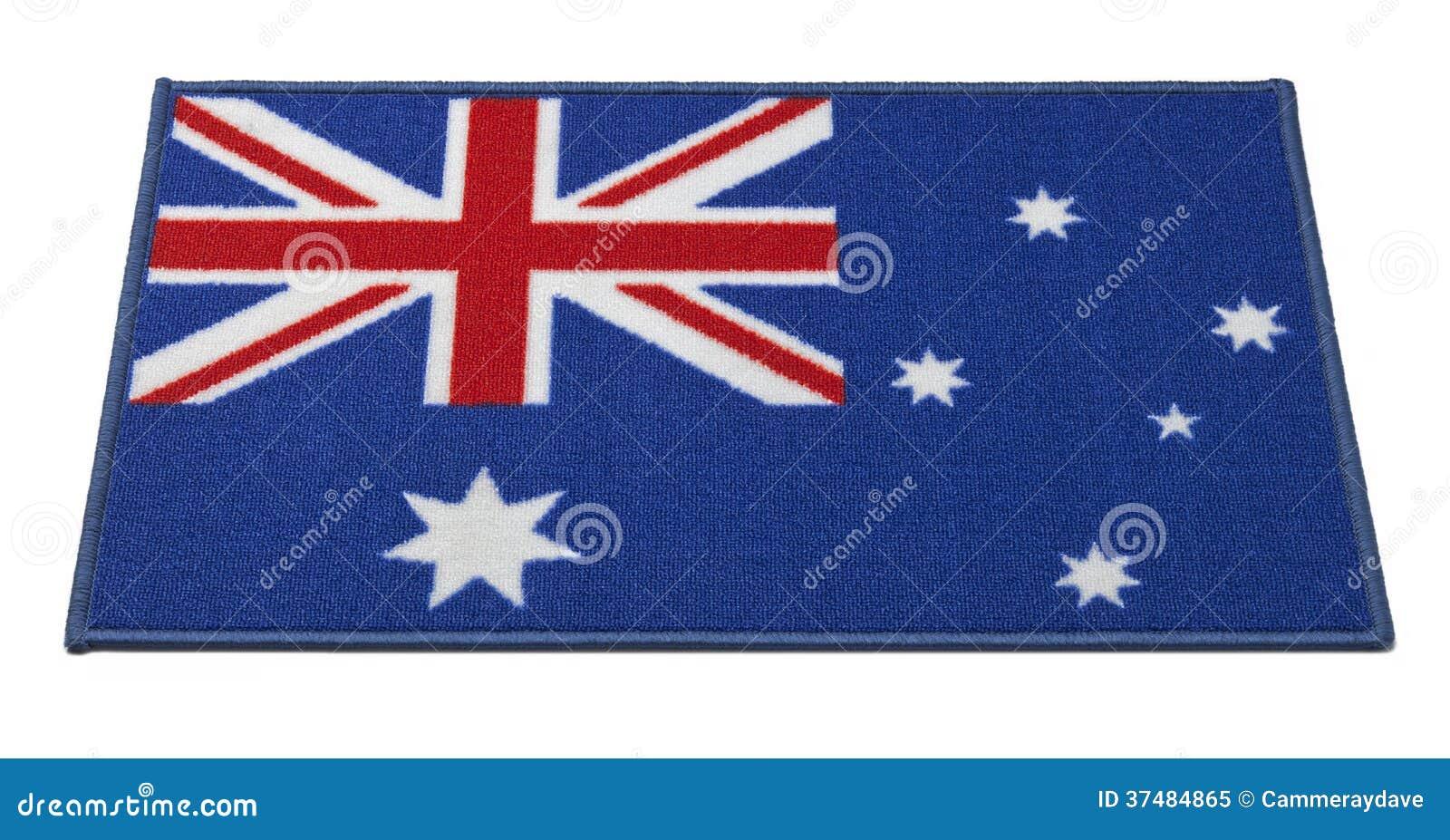Esteira bem-vinda da bandeira australiana