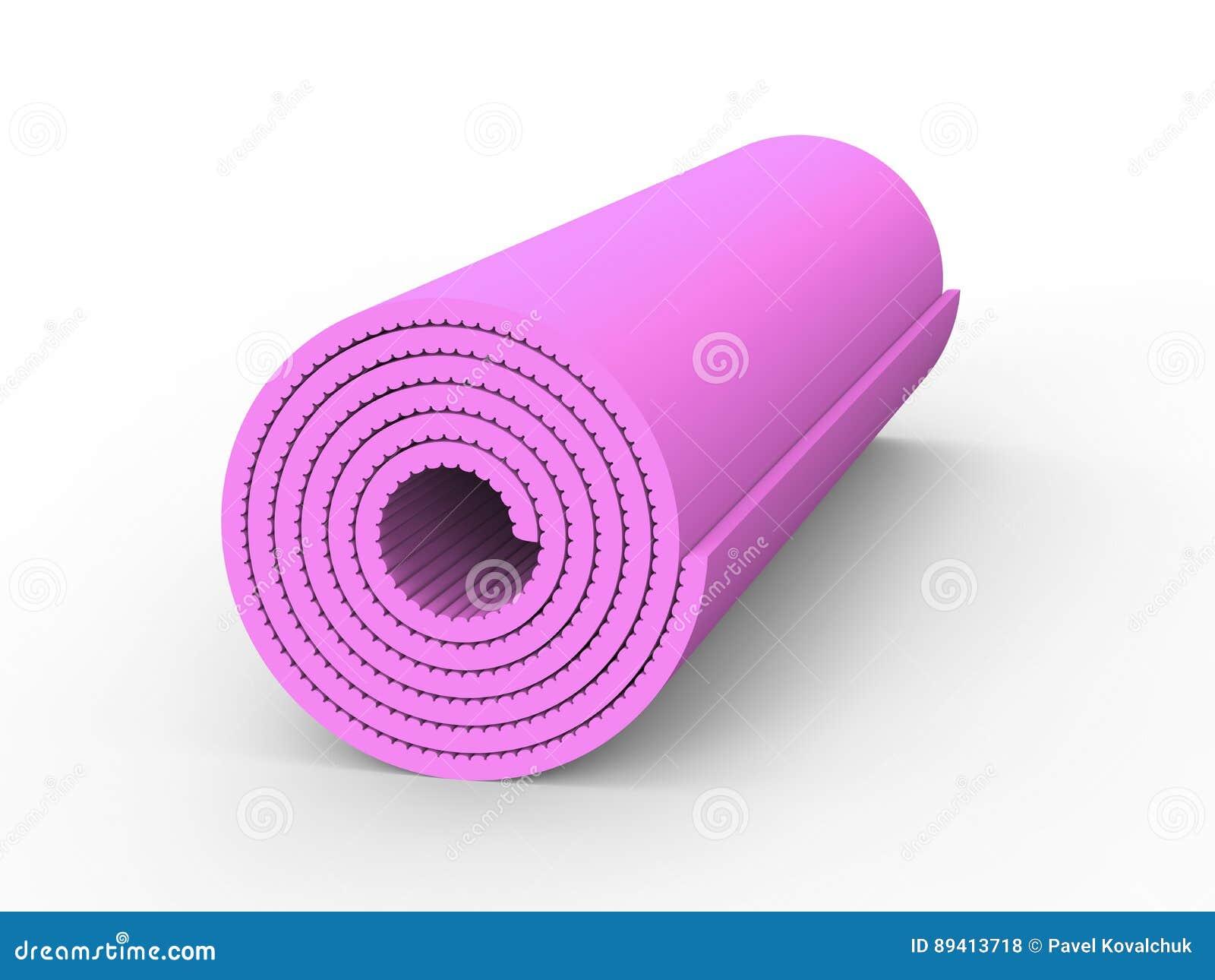 Esteira da ioga do rosa da ilustração 3D