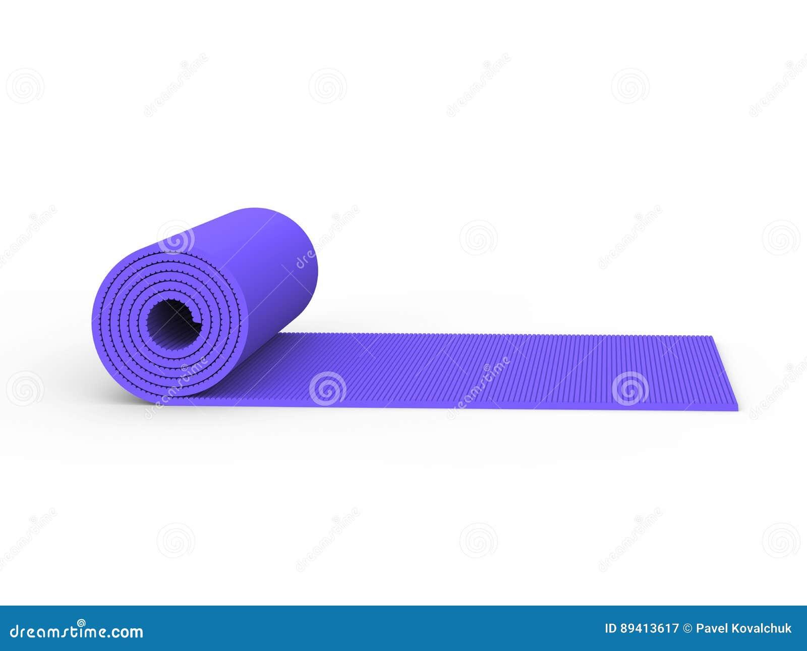 Esteira roxa da ioga da ilustração 3D