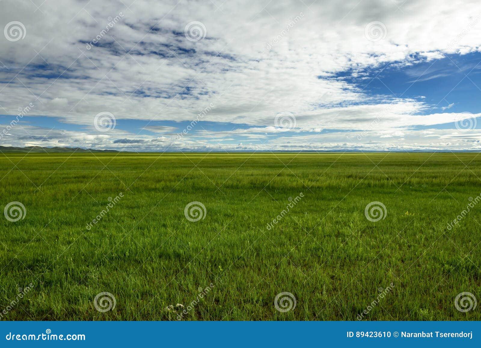 Estepes do Mongolian, província de Uvurkhangai, Mongólia