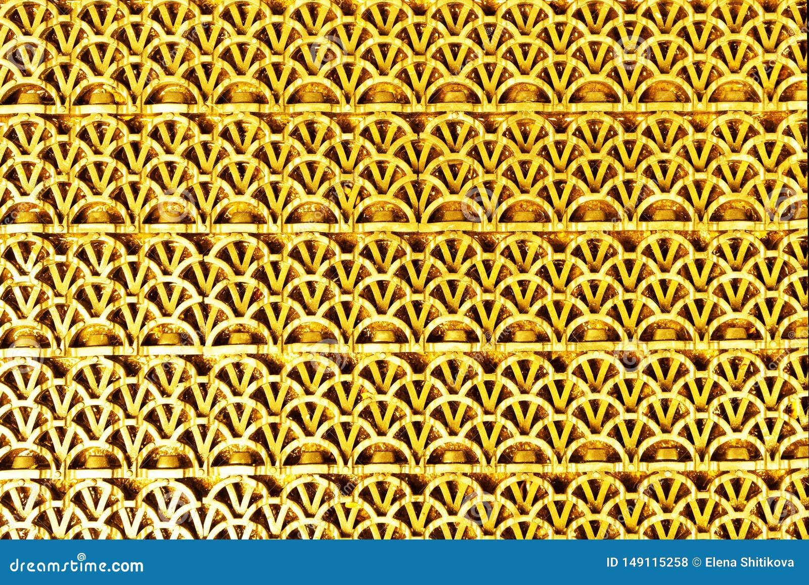 Estera texturizada de goma del color de oro