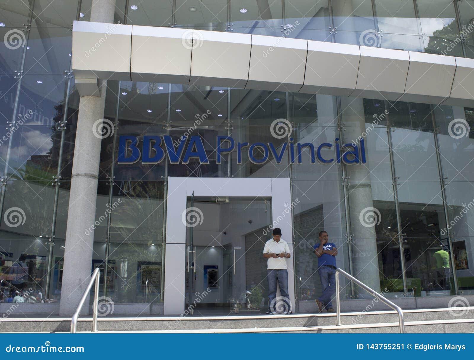 Esterno della Banca provinciale di BBVV a Caracas, Venezuela