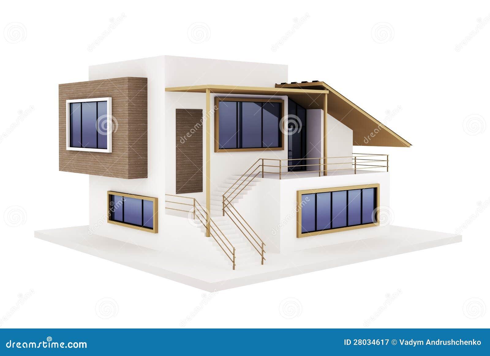 Esterno della casa moderna illustrazione di stock for Disegni di casa italiana moderna
