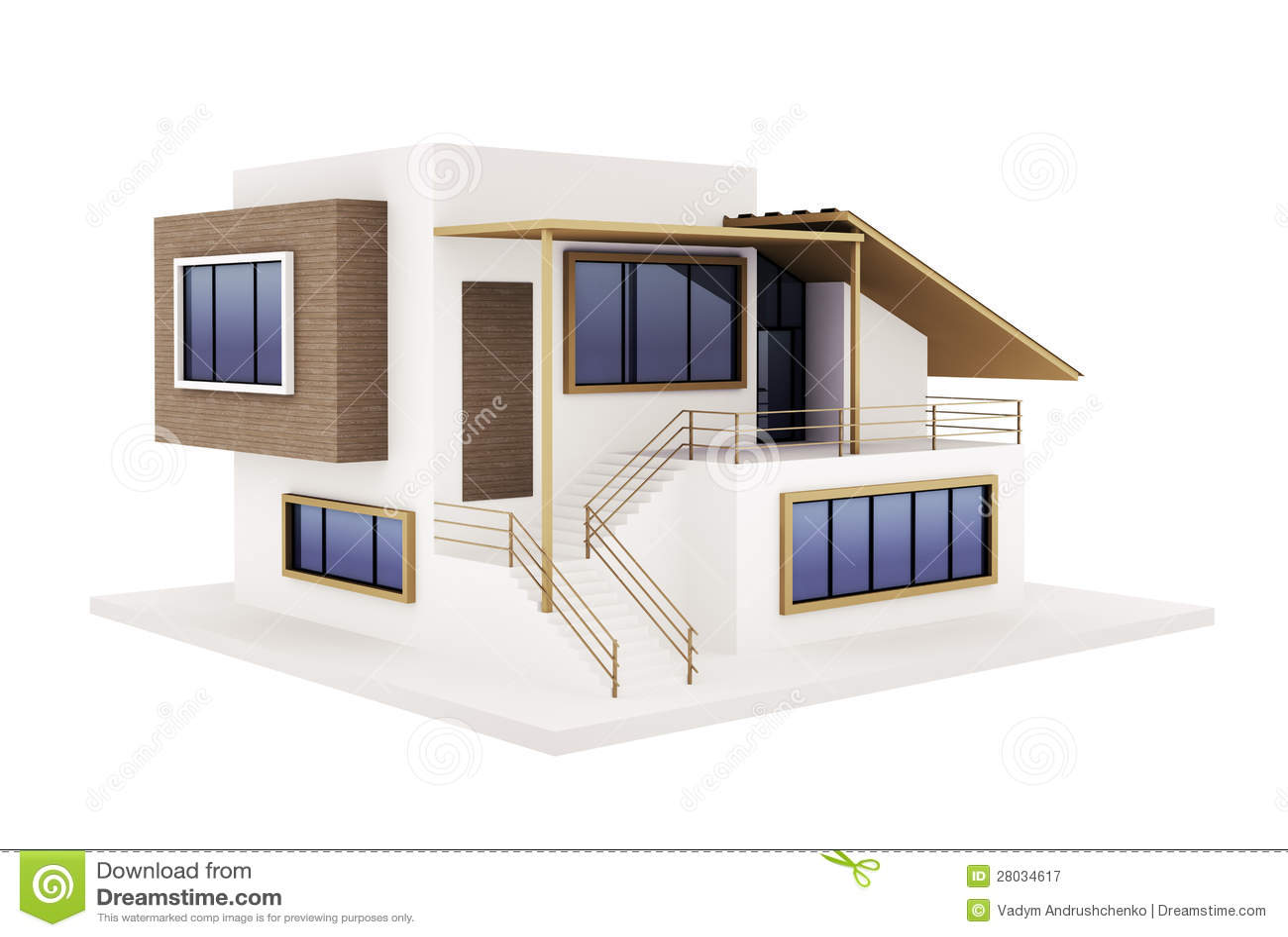 Esterno della casa moderna fotografia stock libera da for Casa moderna bianca esterno