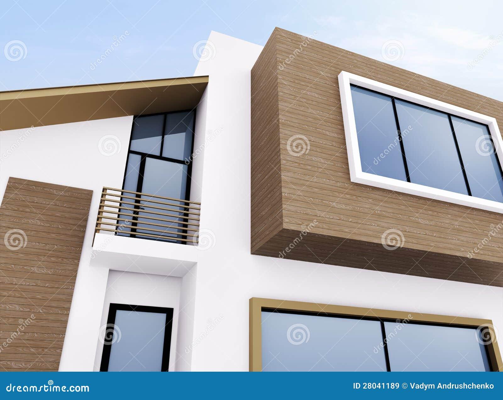 esterno della casa moderna illustrazione di stock