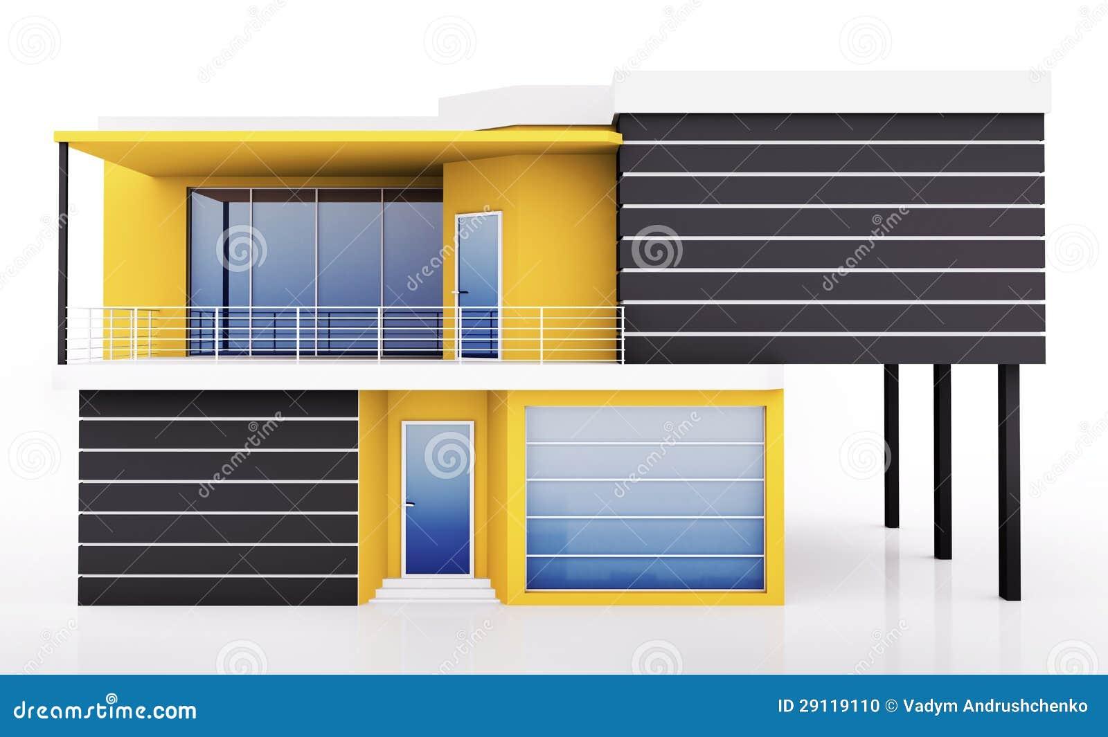 Esterno della casa moderna illustrazione di stock for Casa moderna vector