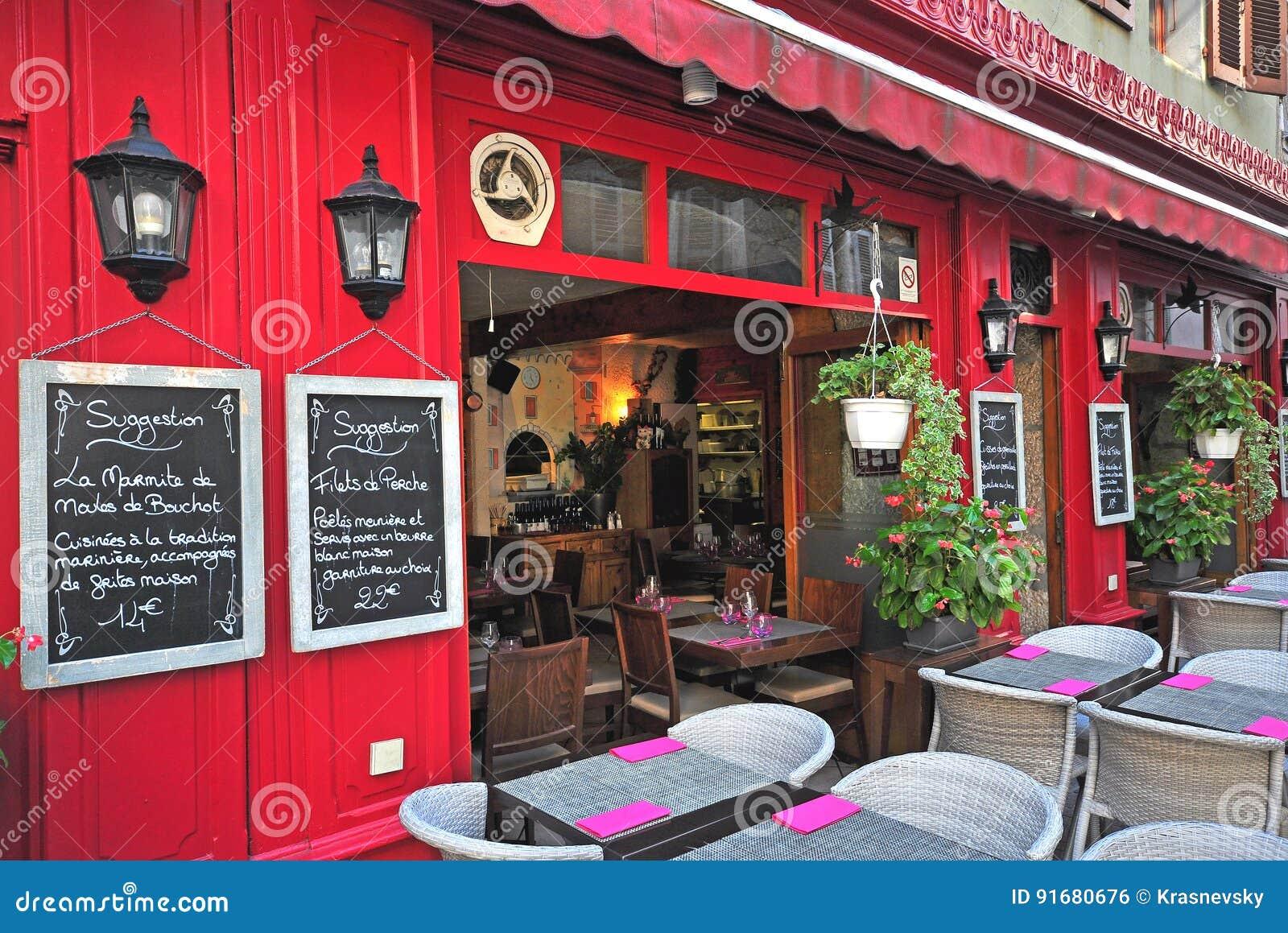 esterno di un ristorante francese citt di annecy