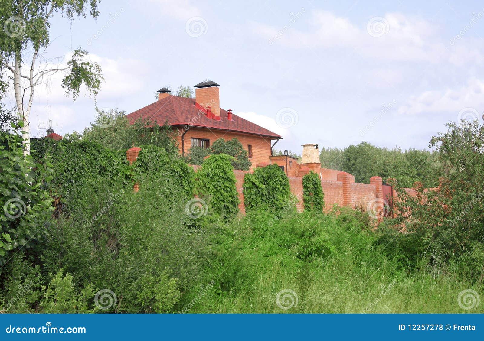 Esterno di una casa di campagna fotografie stock libere da for Spese di costruzione di una casa