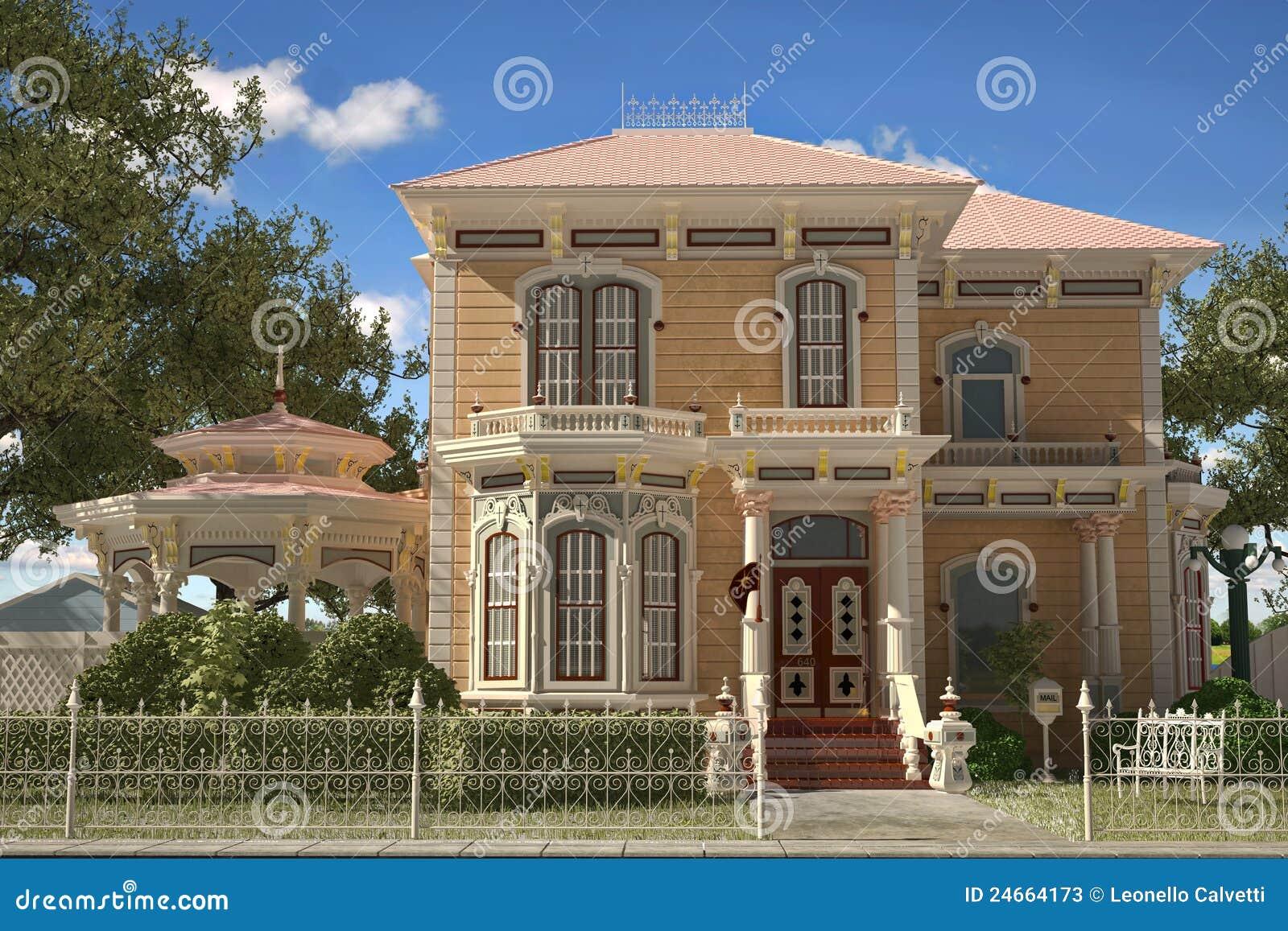 Esterno vittoriano di lusso della casa di stile - Casa stile vittoriano ...