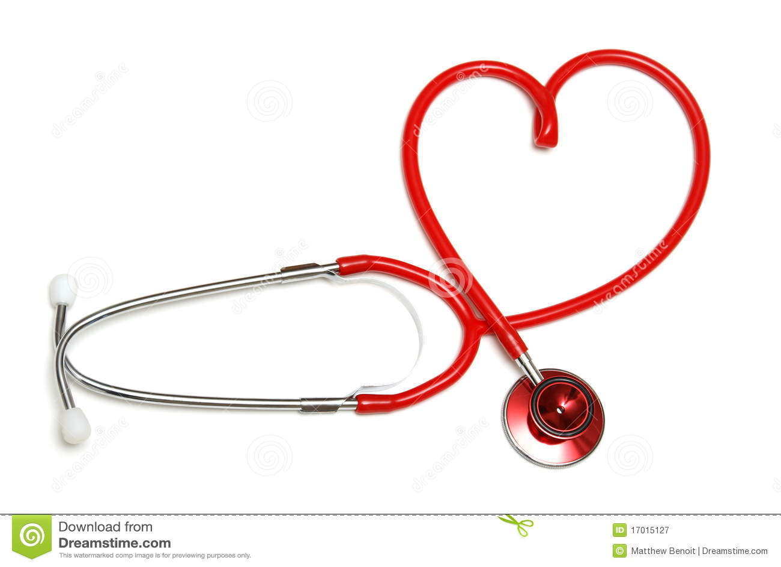 Estetoscopio En Forma De Corazón Imagen De Archivo