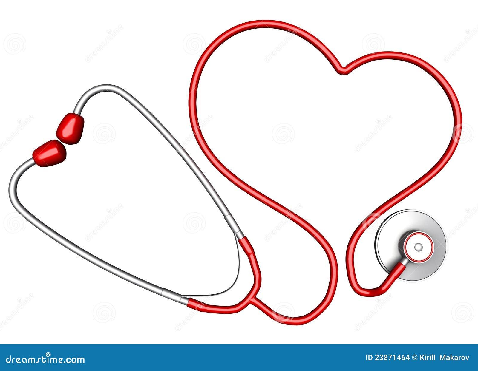 Estetoscopio En Forma De Corazón Stock De Ilustración Ilustración