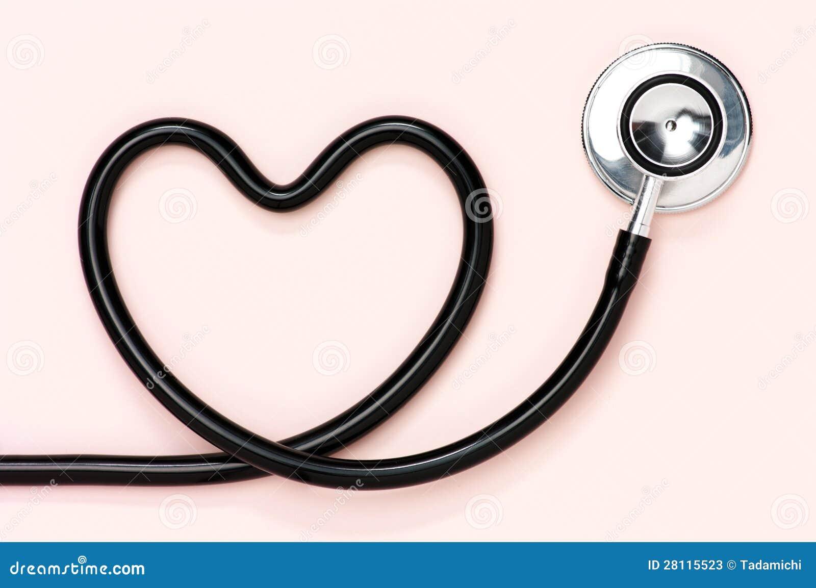 Estetoscopio En Forma De Corazón. Fotos De Archivo