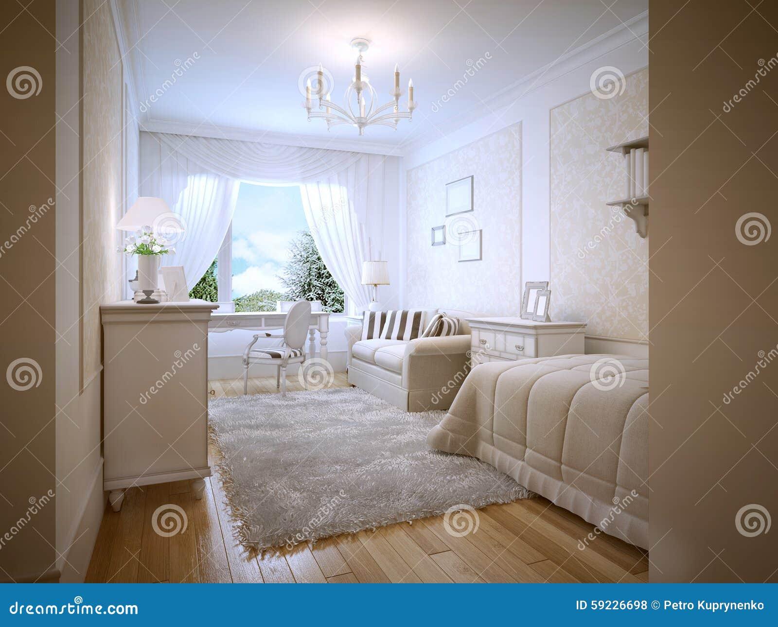 Estilo adolescente brillante de Provence del dormitorio