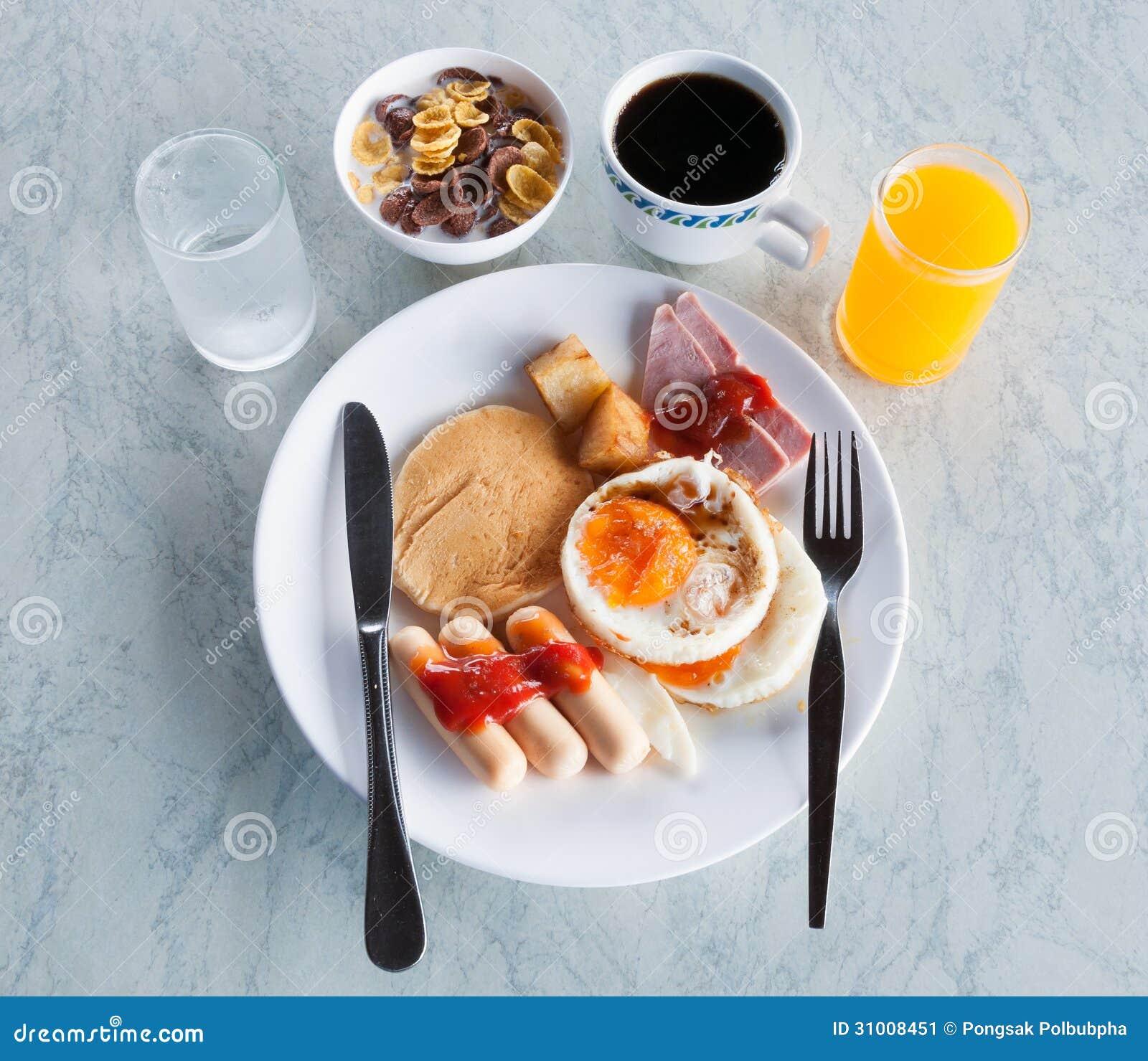 Desayuno Americano En Ingles