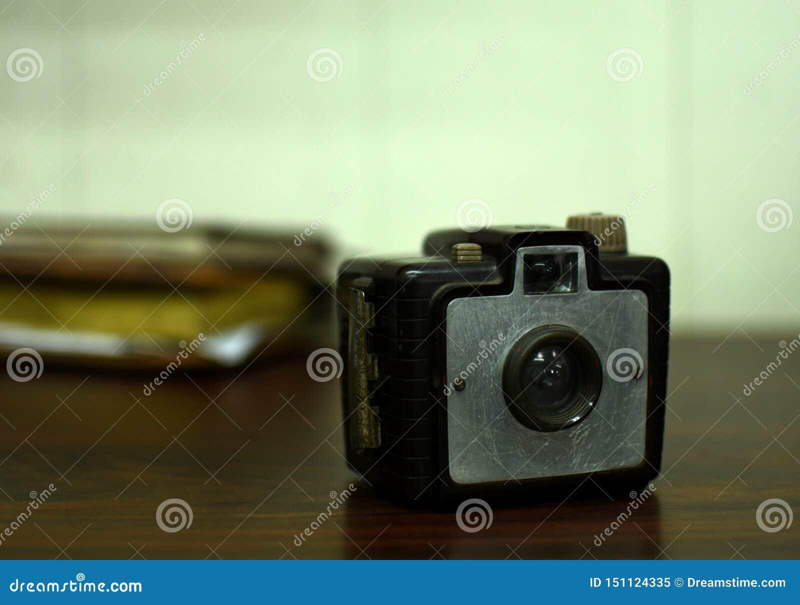Estilo antiguo del vintage del brownie de la cámara