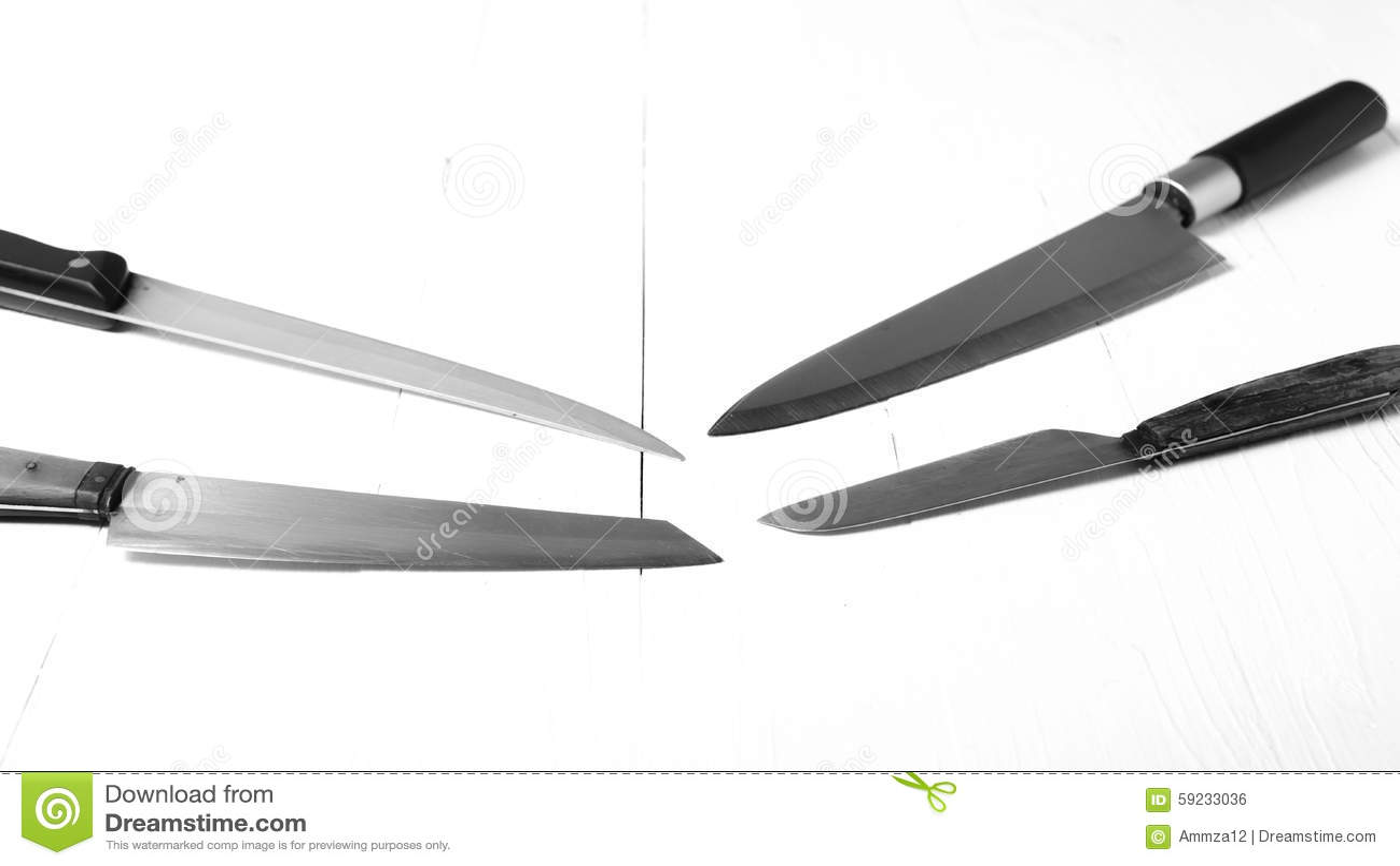 Download Estilo Blanco Y Negro Del Color De Tono Del Cuchillo De Cocina Foto de archivo - Imagen de casa, plata: 59233036