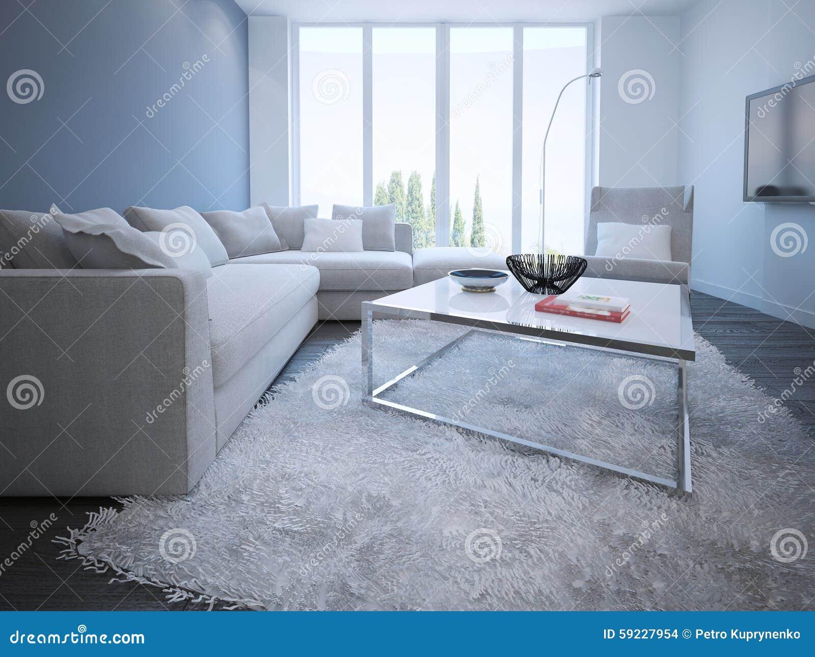 Estilo contemporáneo de la sala de estar