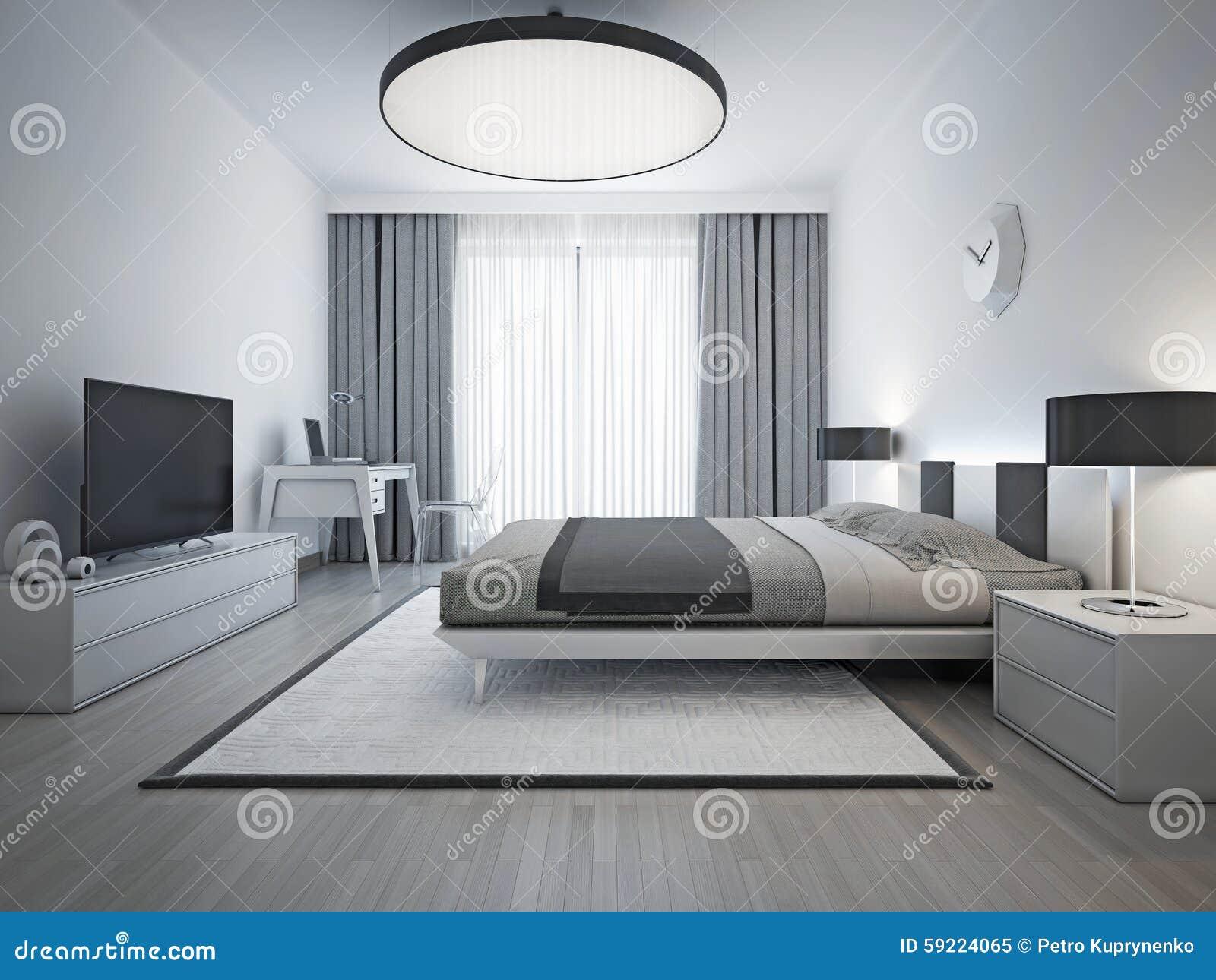 Estilo contempor neo del dormitorio elegante imagen de archivo imagen de puerta pantalla - Foto chambre a coucher ...