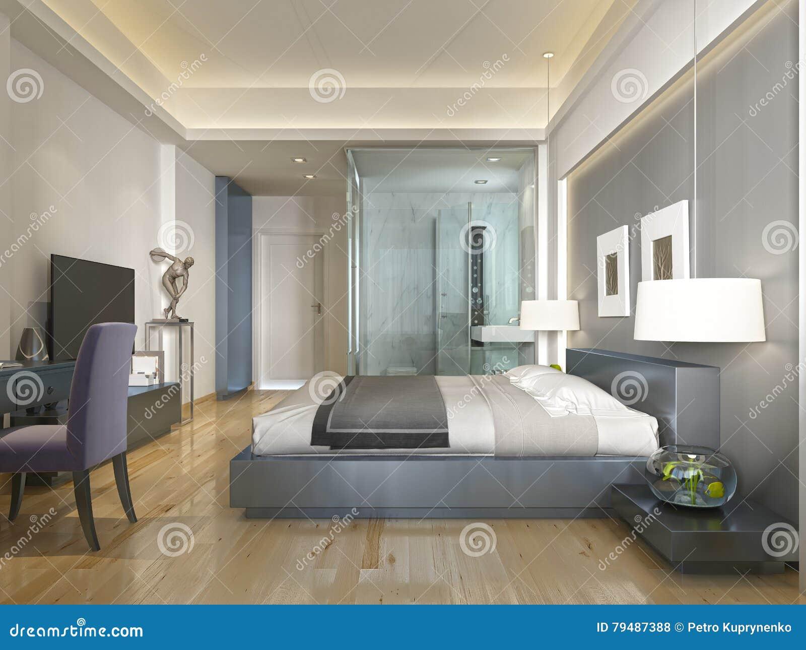 Estilo contempor neo moderno de la habitaci n con los elementos del art d co stock de - Deco modern kamerontwerp ...