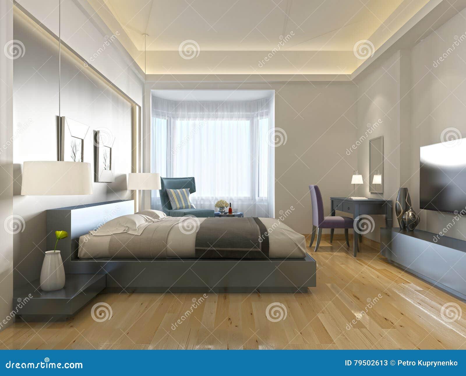 Estilo contemporáneo moderno de la habitación con los elementos del art déco
