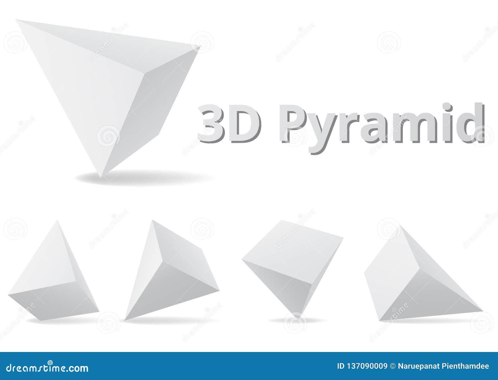 Estilo de la forma 3D de la pirámide