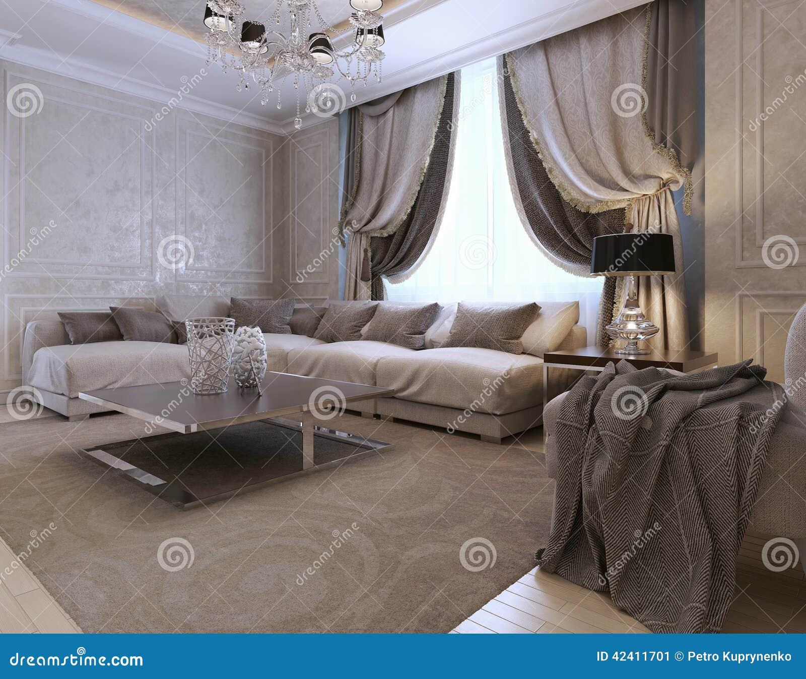 Estilo de la obra clásica de la sala de estar