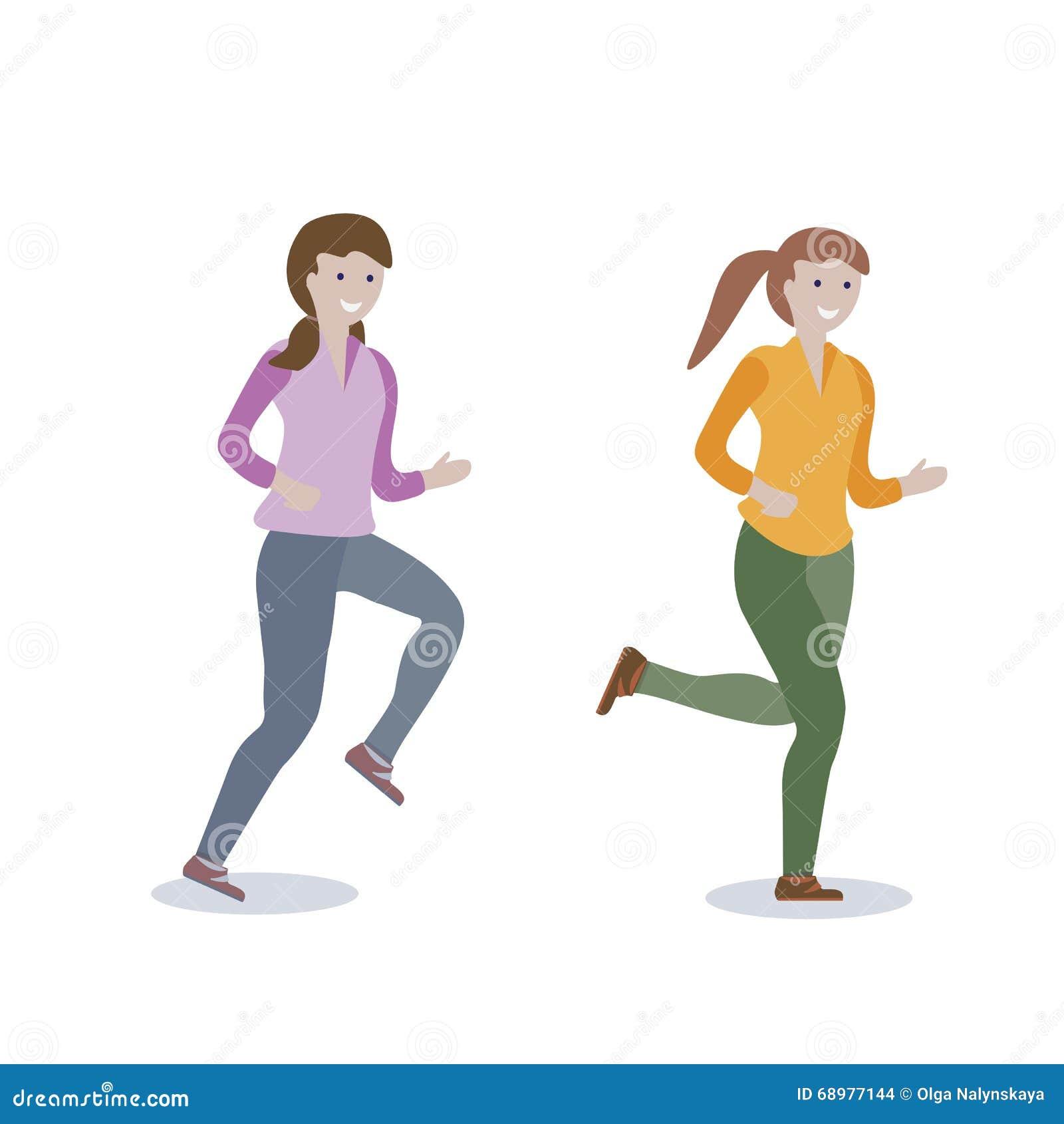 Estilo de vida running das meninas