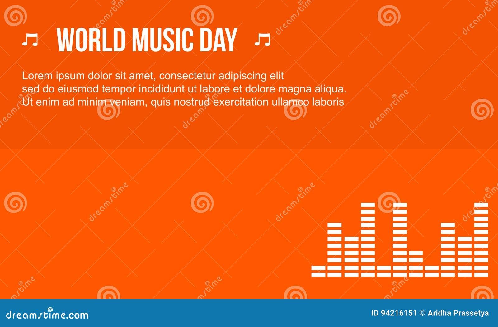 Estilo del fondo del día de la música de la celebración