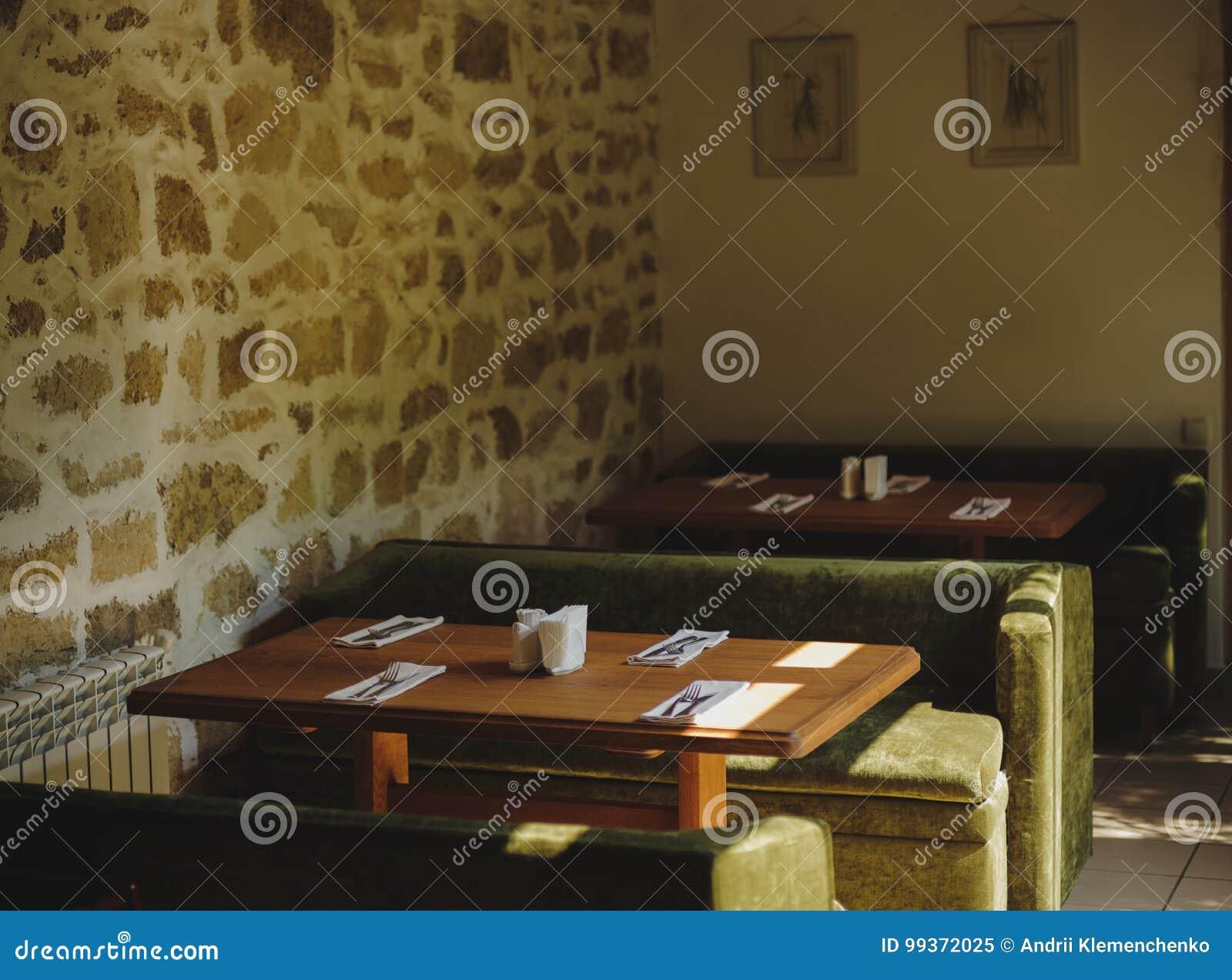 Estilo Del Restaurante Del Vintage Decoraciones Tablas