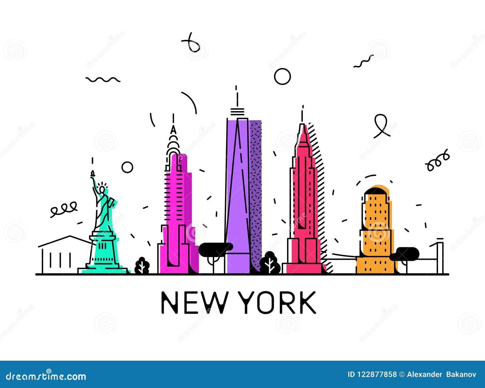 Estilo del vector de New York City Memphis, 80 s, 90 s