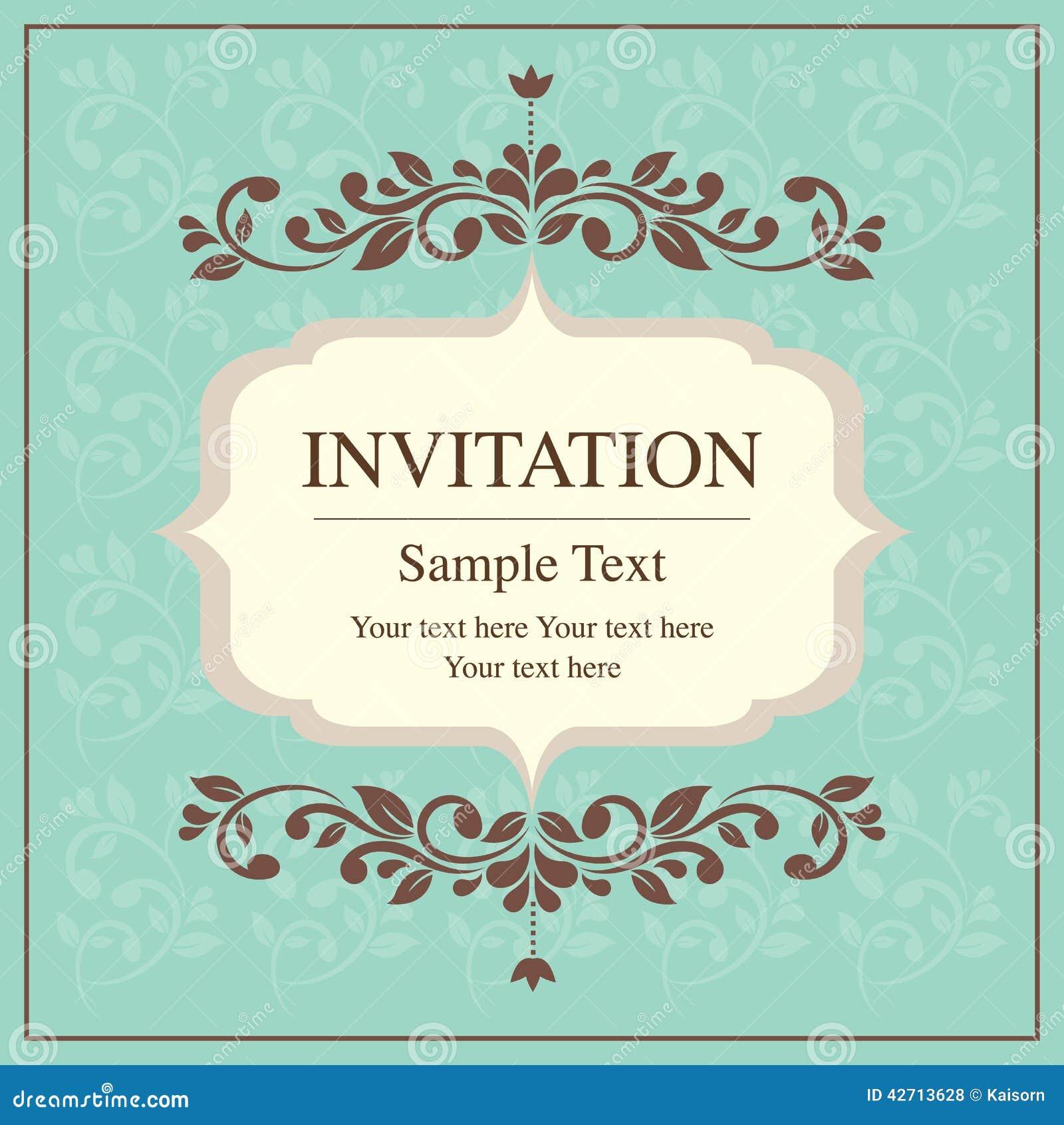 Estilo del vintage de la tarjeta de la invitación