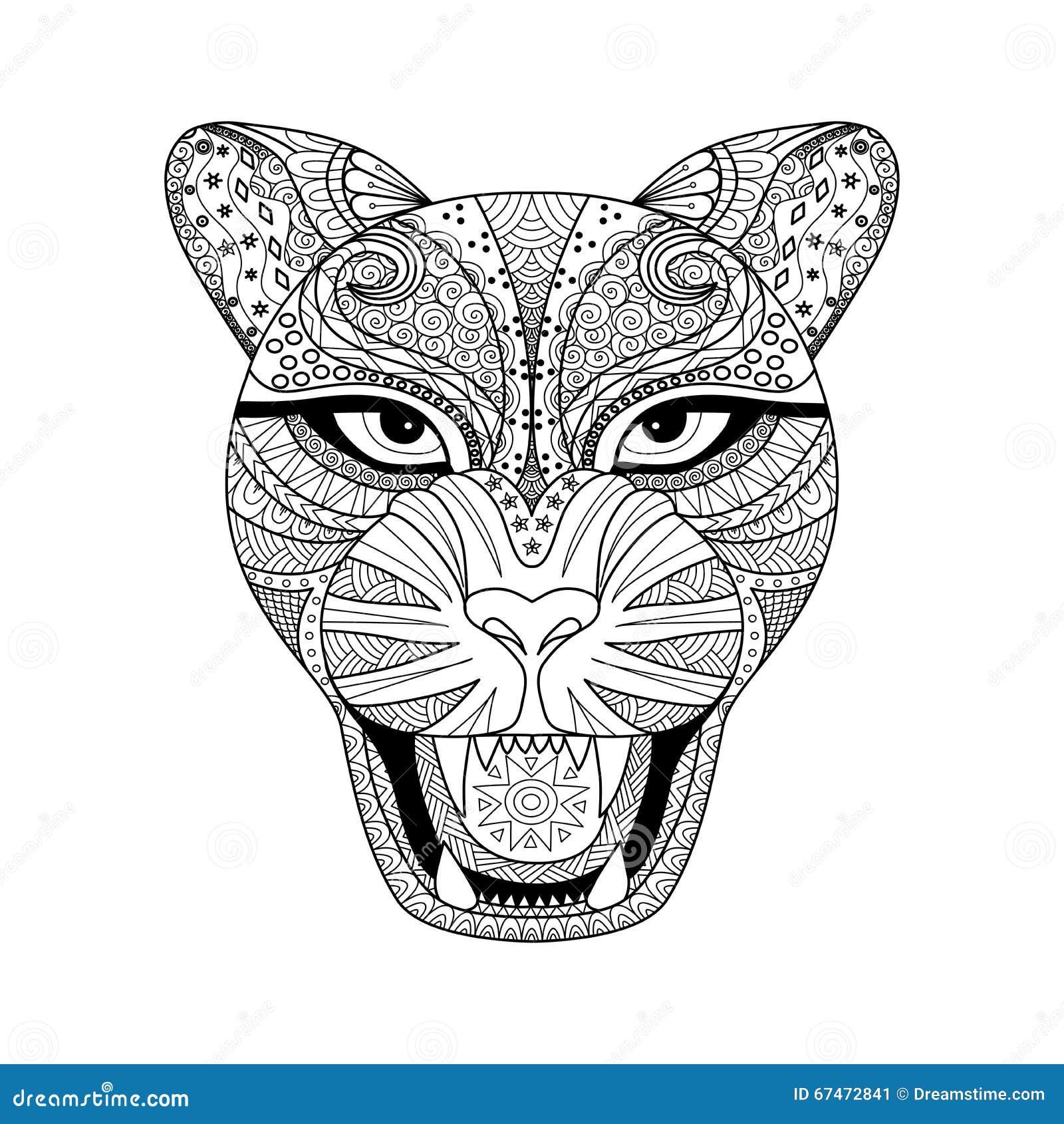Estilo Del Zentagle Del Leopardo Para La Camiseta, El Tatuaje O El ...