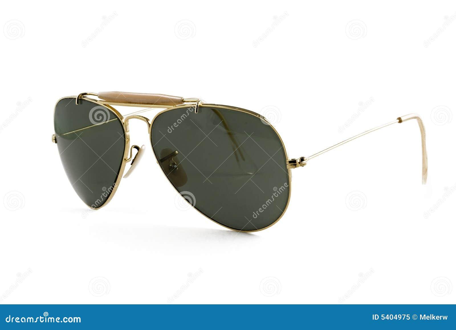 4582e12632773 Estilo Do Aviador Dos óculos De Sol Isolado No Branco Imagem de ...
