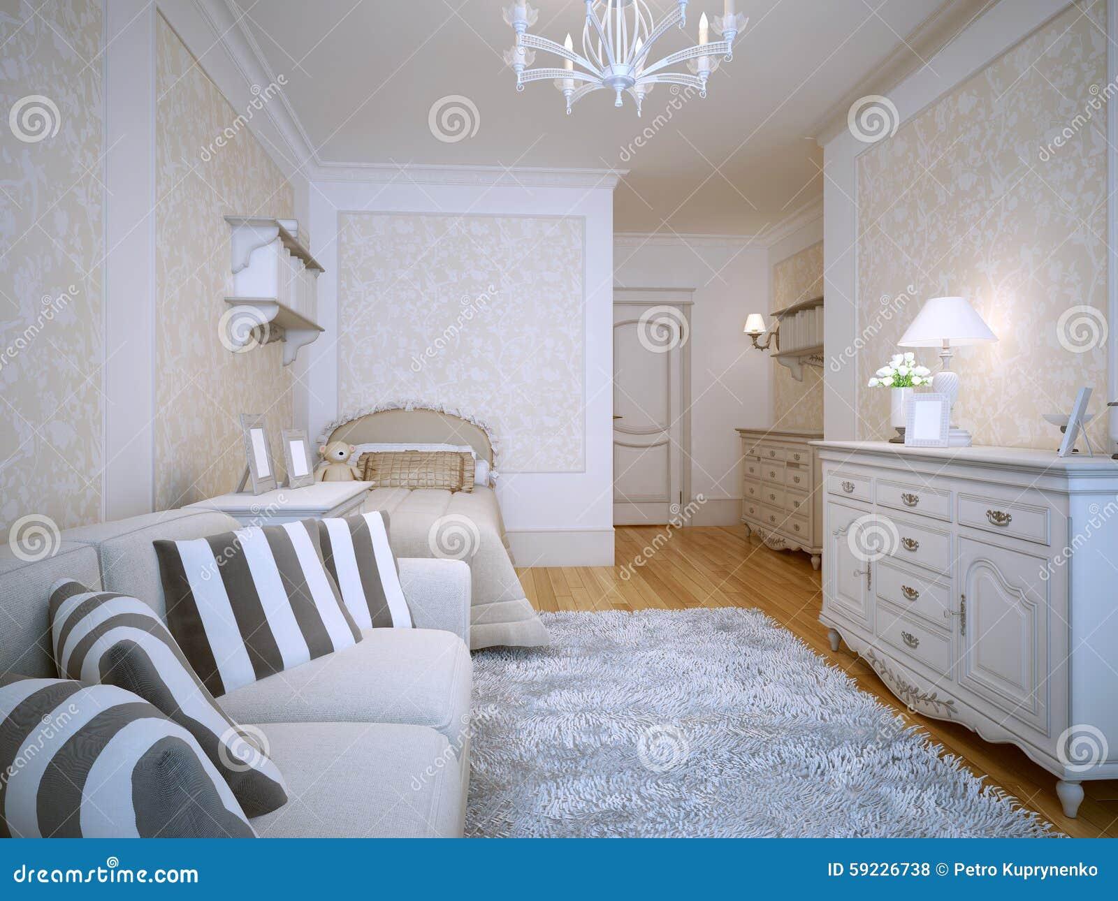 Download Estilo Espacioso De La Obra Clásica Del Dormitorio Stock de ilustración - Ilustración de idea, color: 59226738