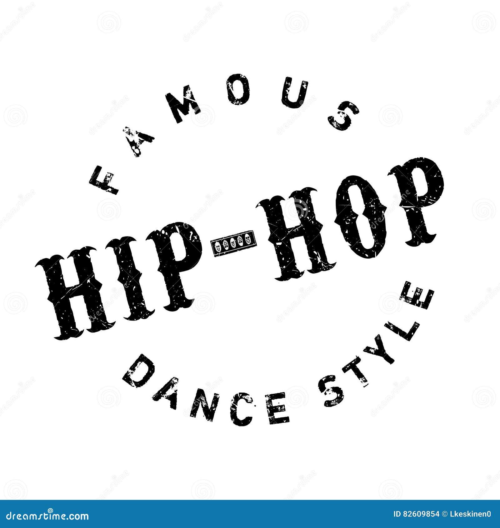 Estilo famoso de la danza, sello del hip-hop