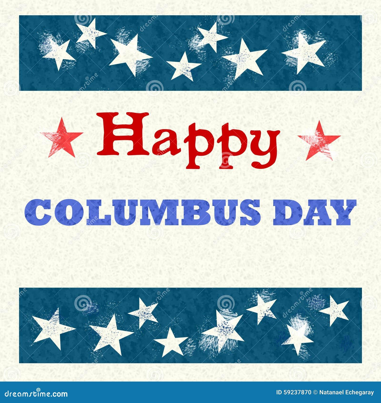 Estilo feliz del vintage de Columbus Day