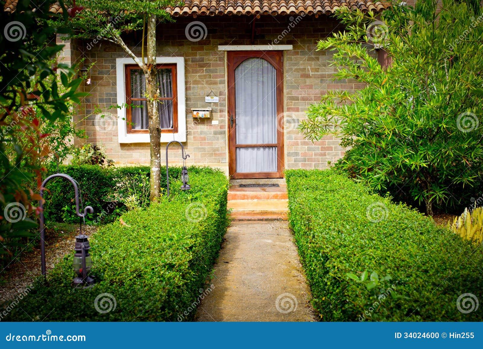 Estilo italiano do jardim