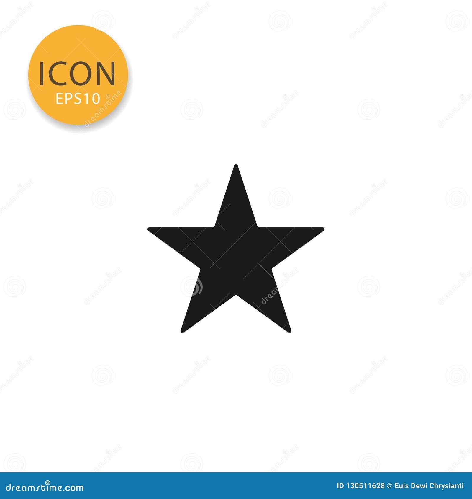 Estilo liso isolado ícone da estrela