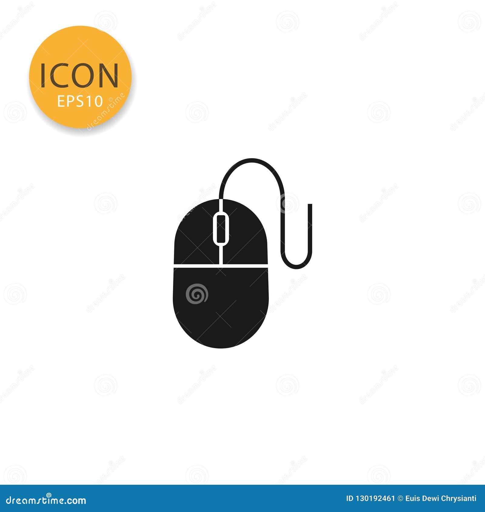 Estilo liso isolado ícone do rato do computador