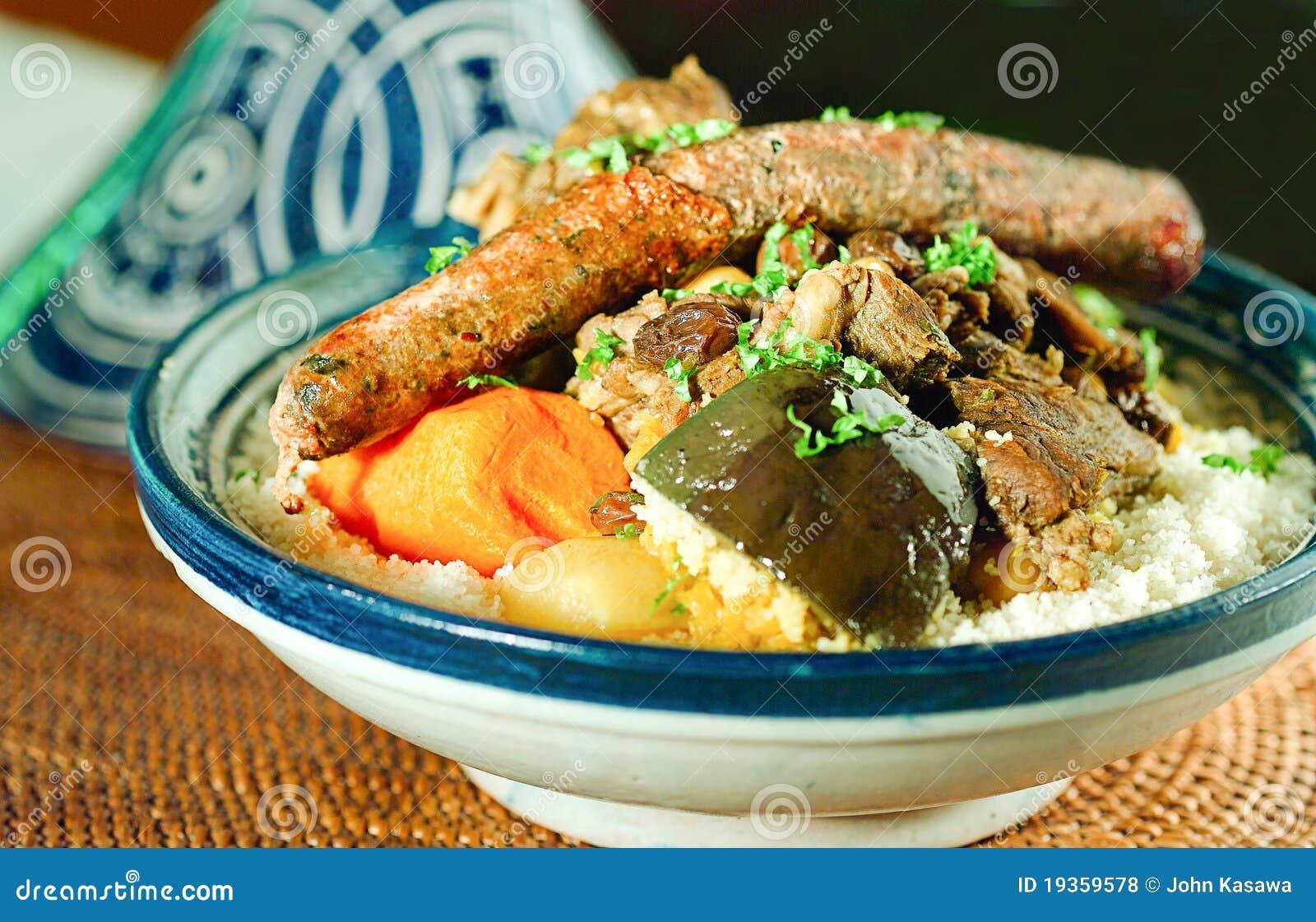 Estilo marroquino do alimento