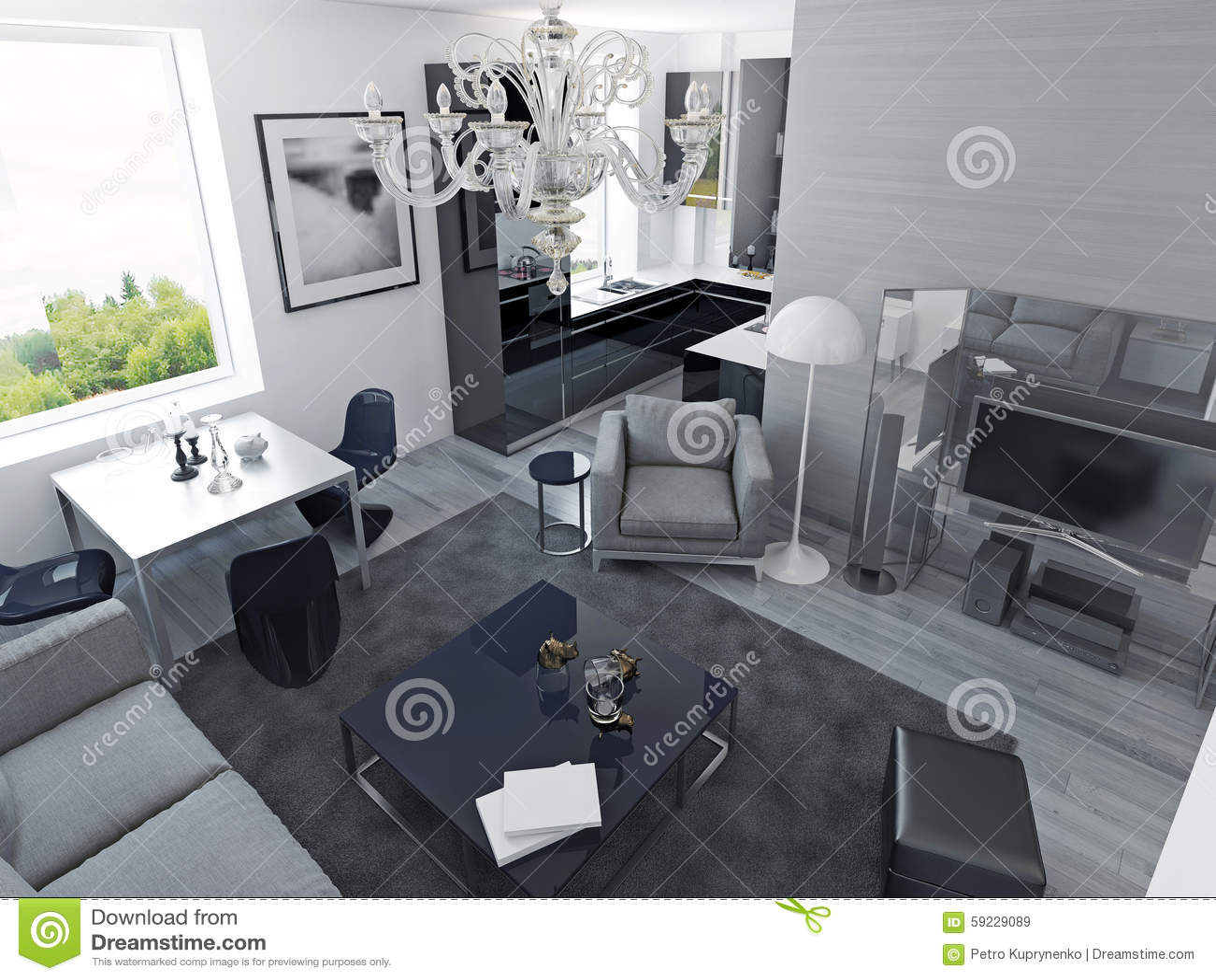Download Estilo Moderno De Los Apartamentos De Lujo Stock de ilustración - Ilustración de lujo, moderno: 59229089