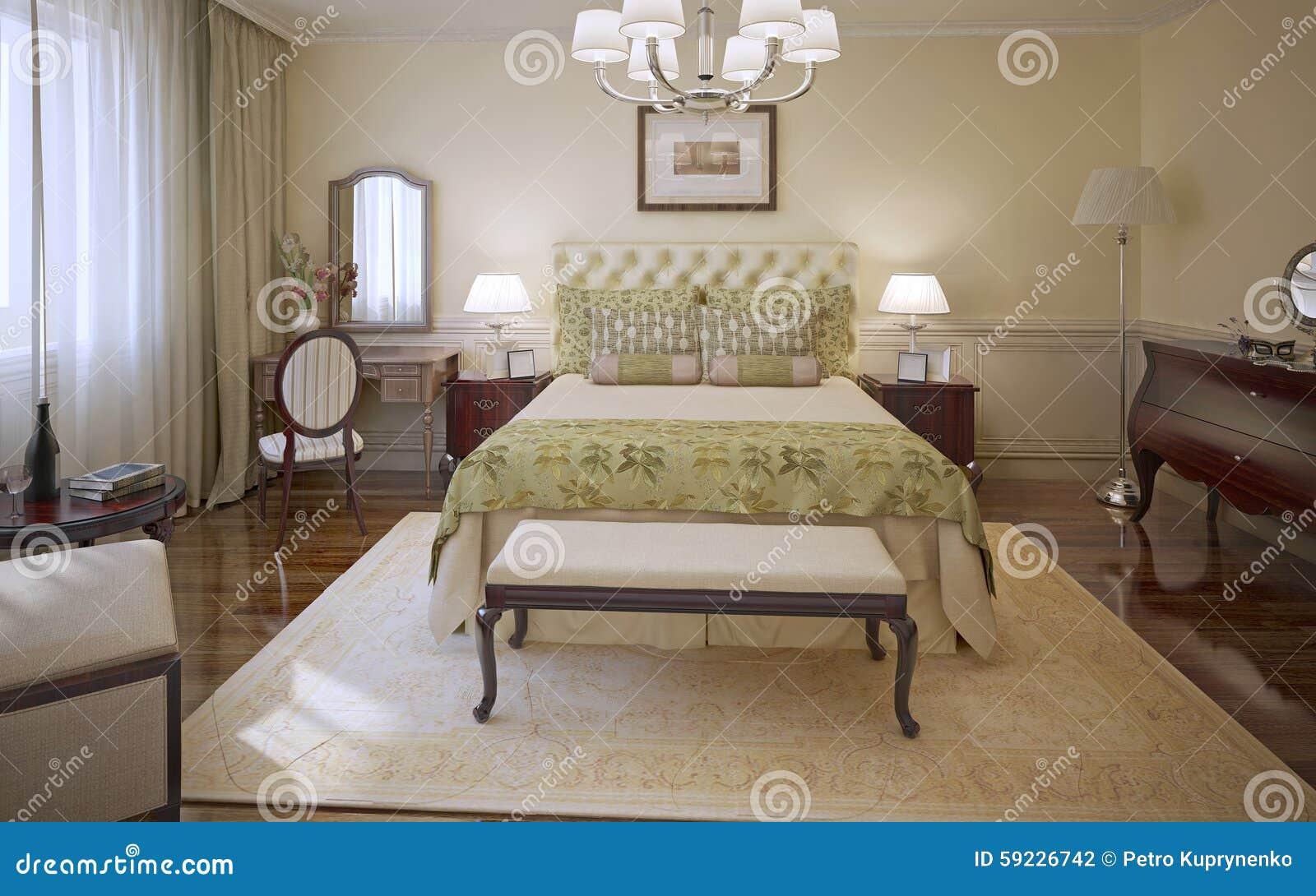 Download Estilo Moderno Del Dormitorio Elegante Stock de ilustración - Ilustración de preparación, chandelier: 59226742