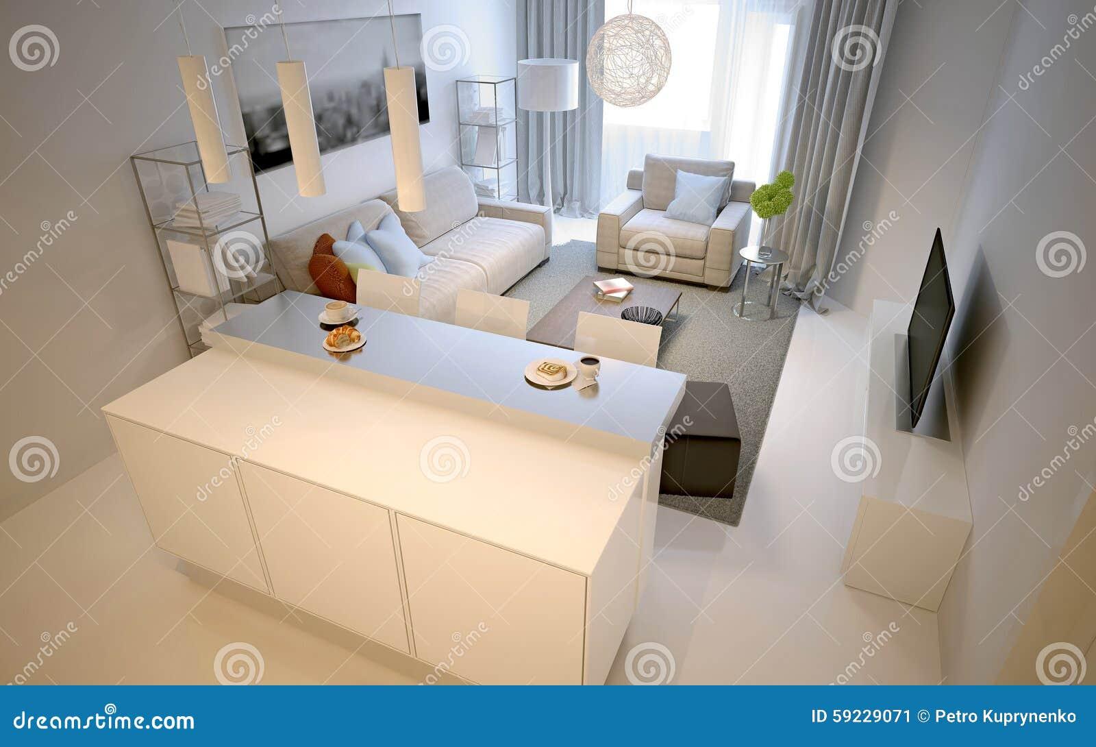Estilo moderno del estudio de la sala de estar