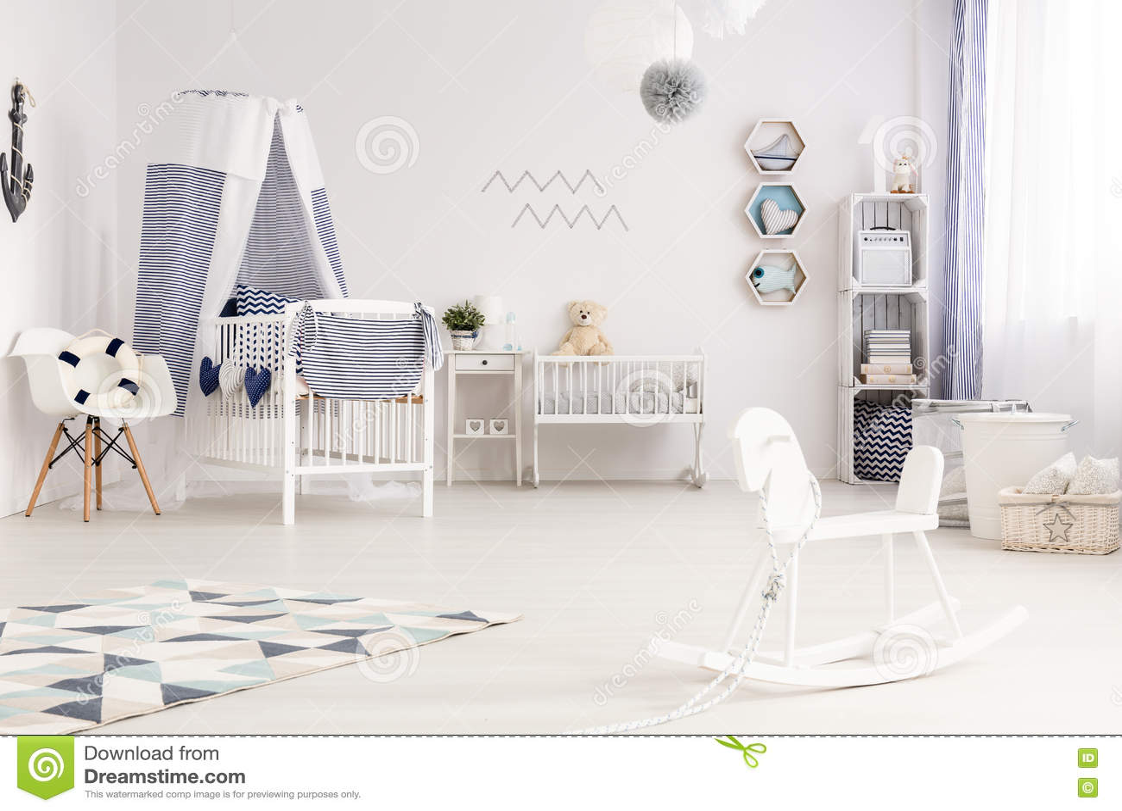 Estilo náutico do bebê