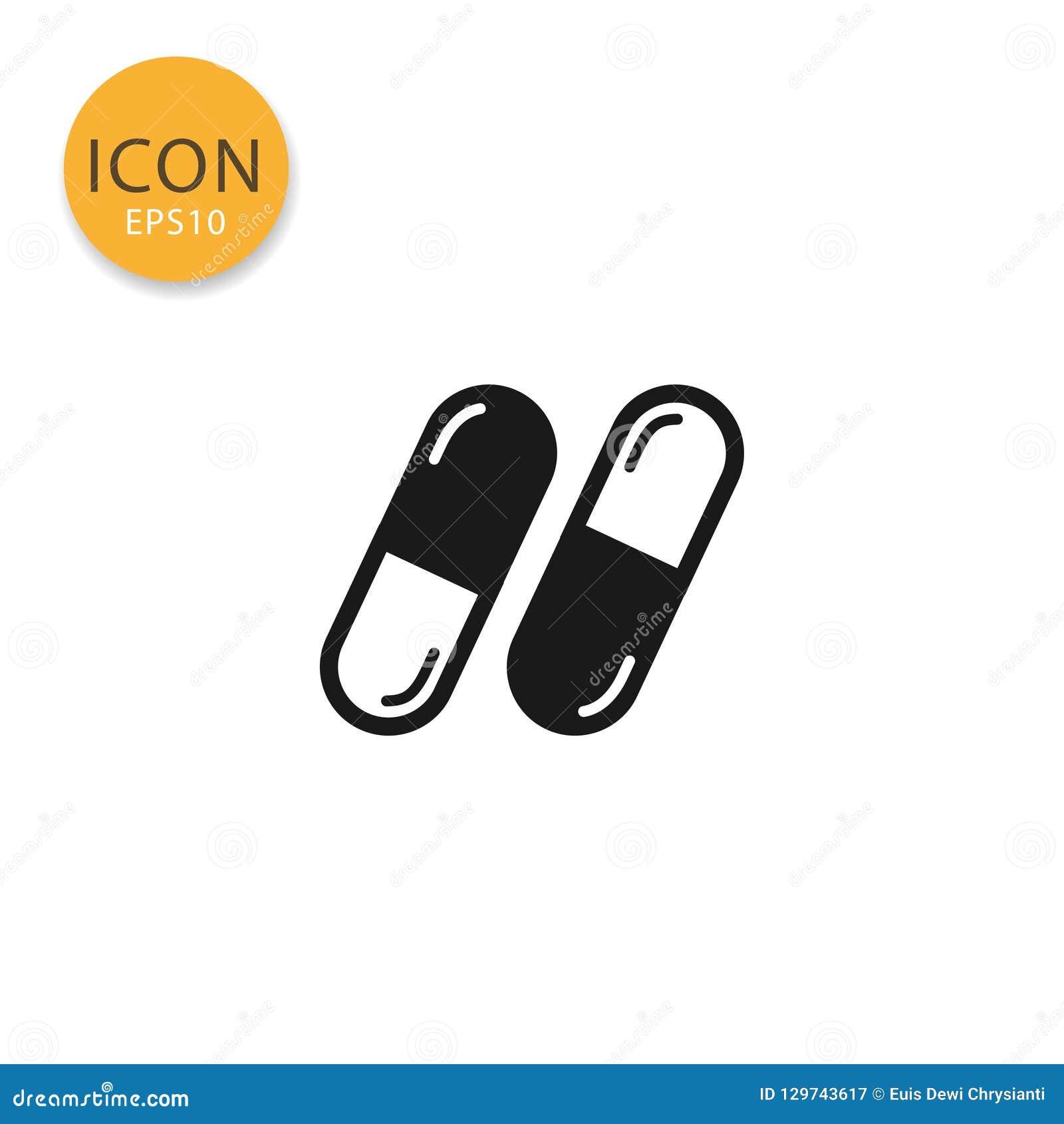 Estilo plano aislado icono de las cápsulas