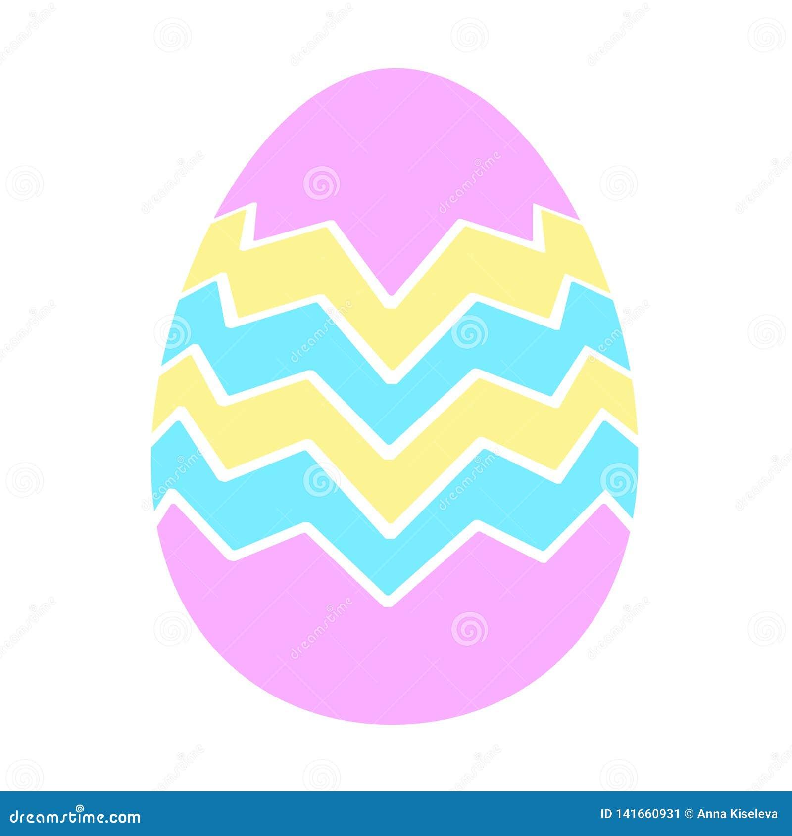 Estilo plano de los iconos del huevo de Pascua del color