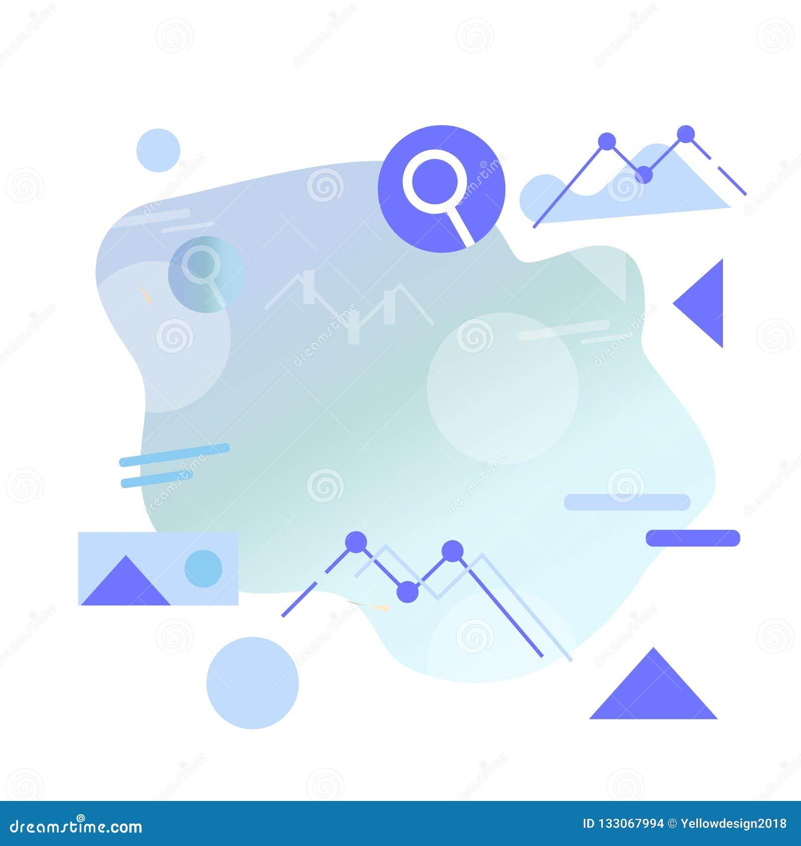 Estilo plano Infographics ejemplo en estilo plano geométrico mínimo simple